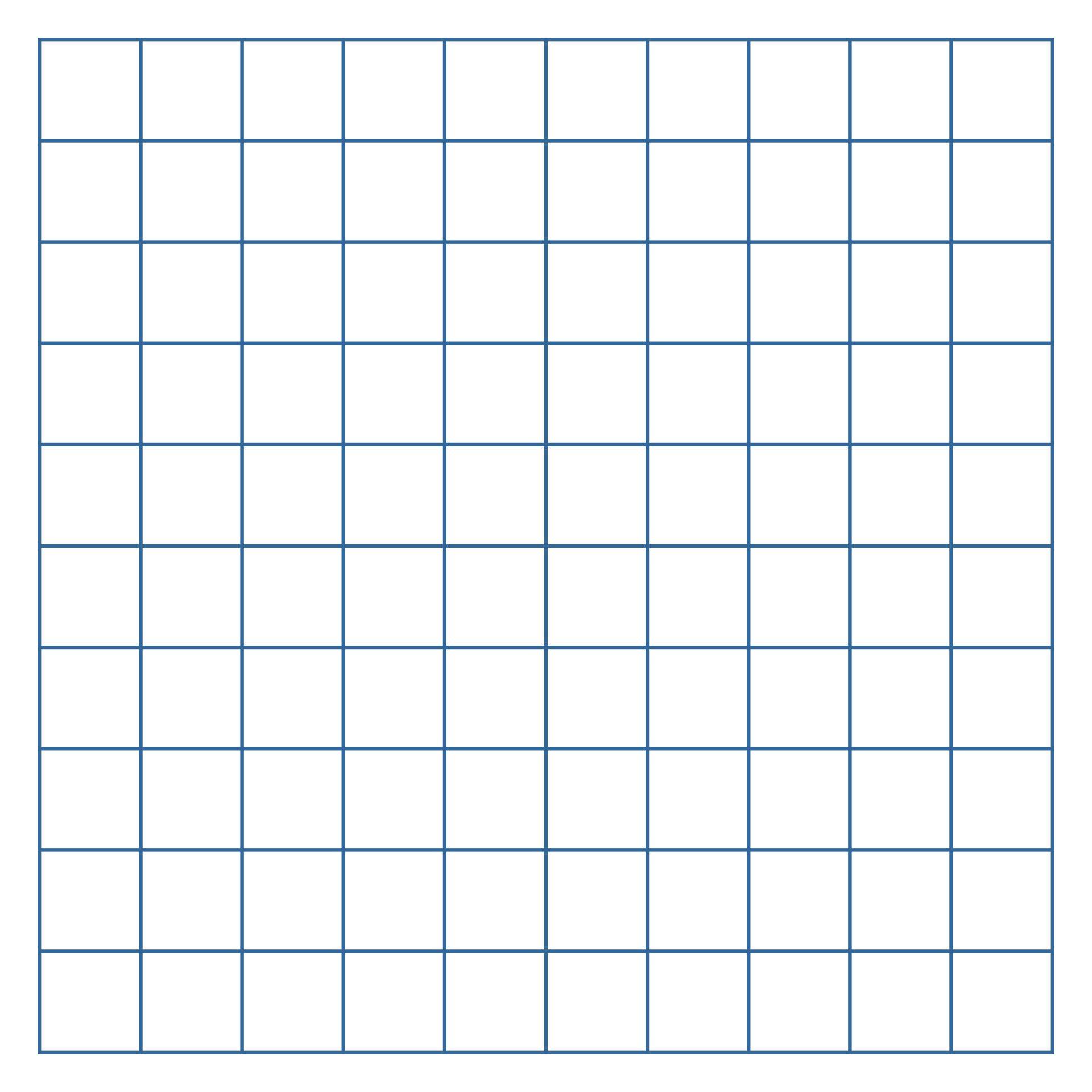 100 Square Grid Paper