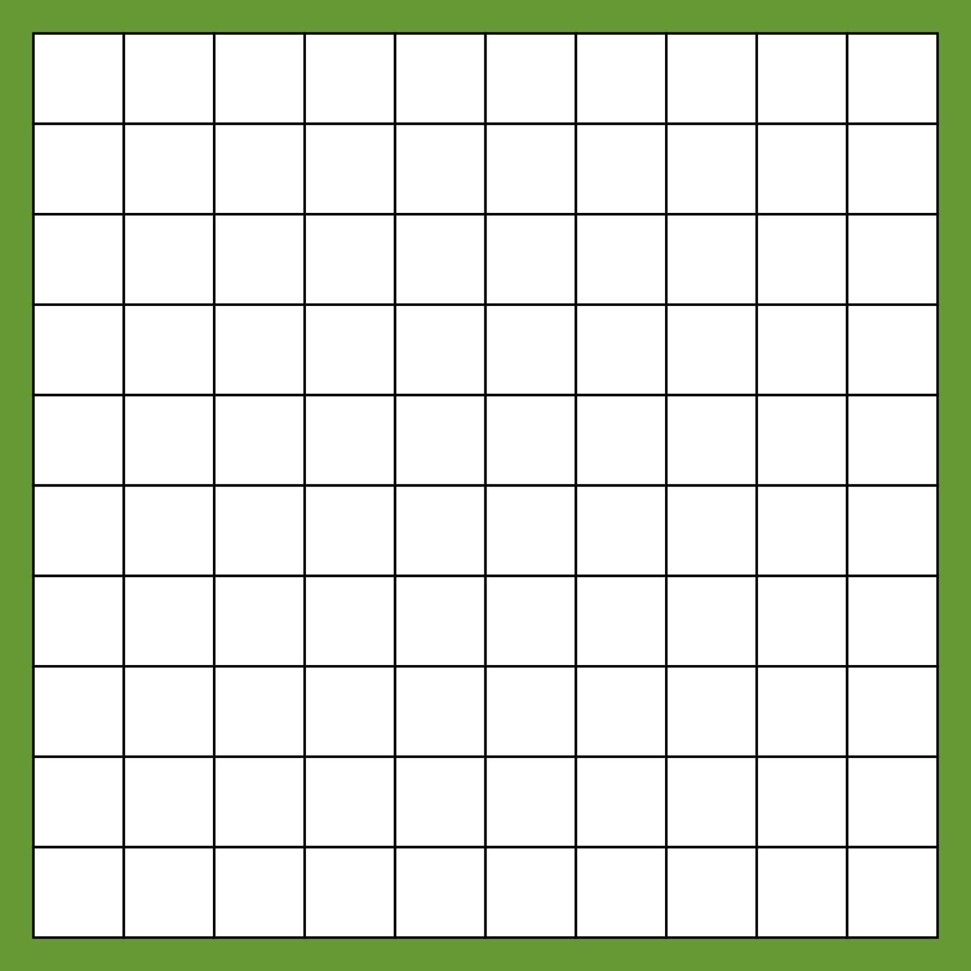 100 Square Grid Printable
