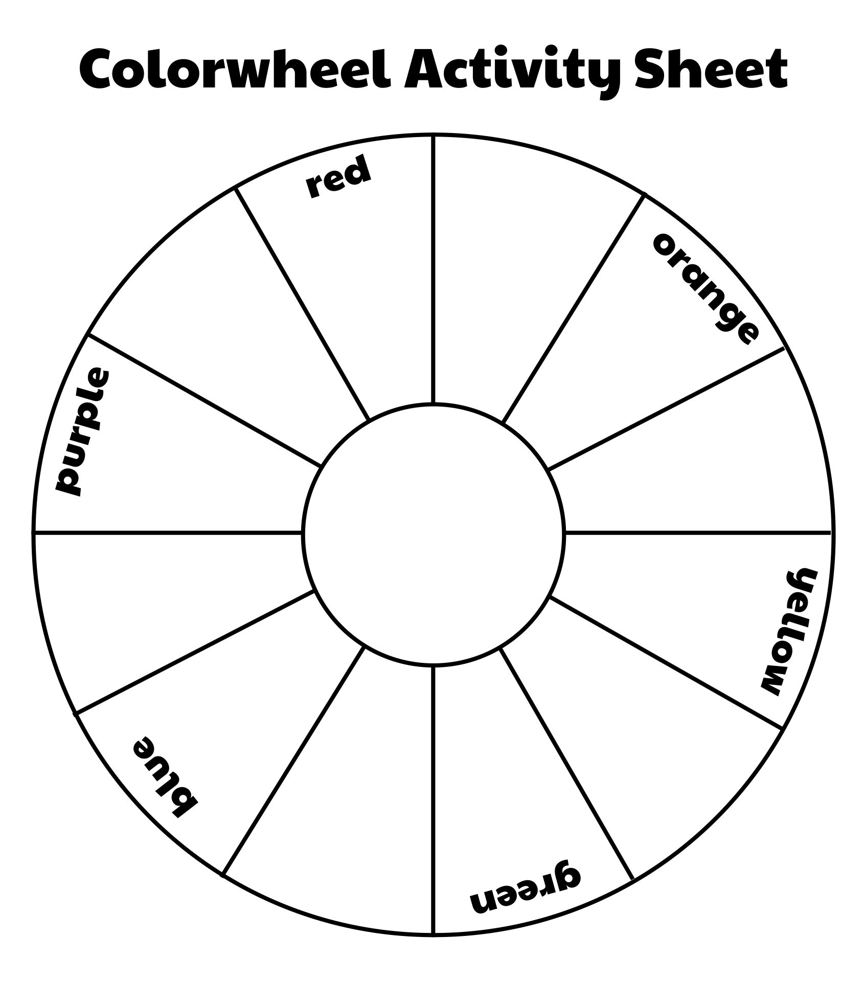 Color Wheel Activity For Students