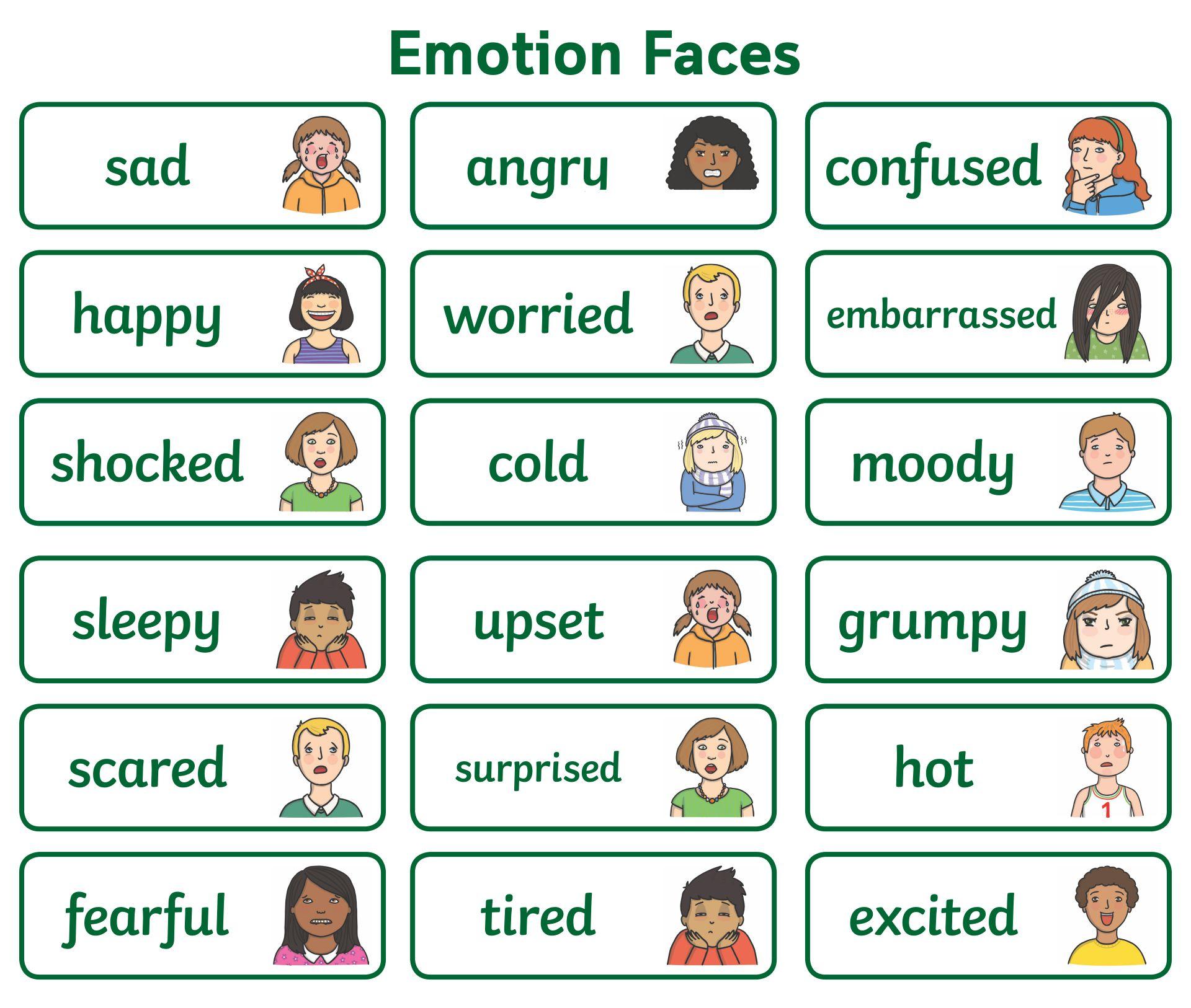Free Printable Emotion Faces