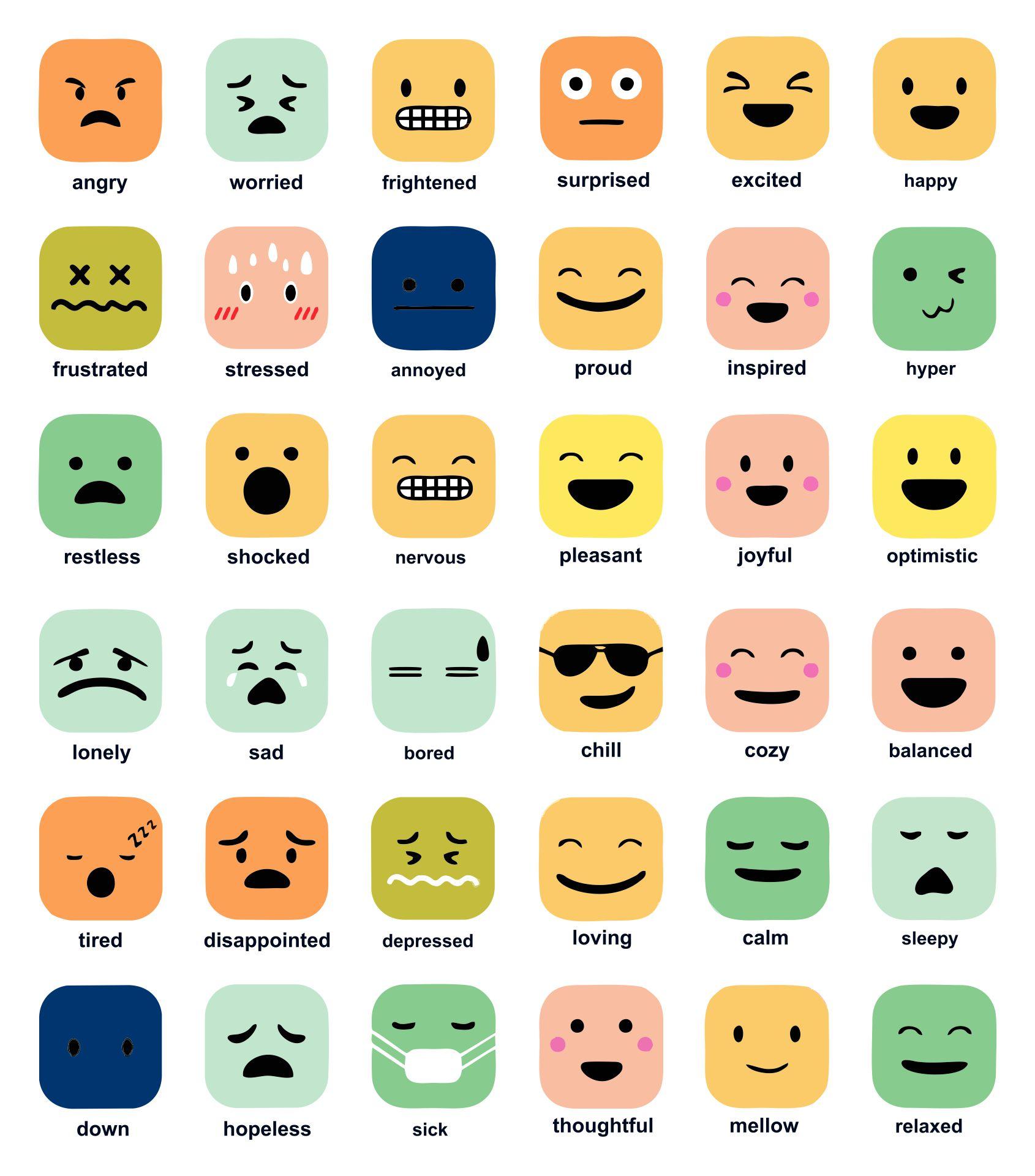Free Printable Emotions Chart