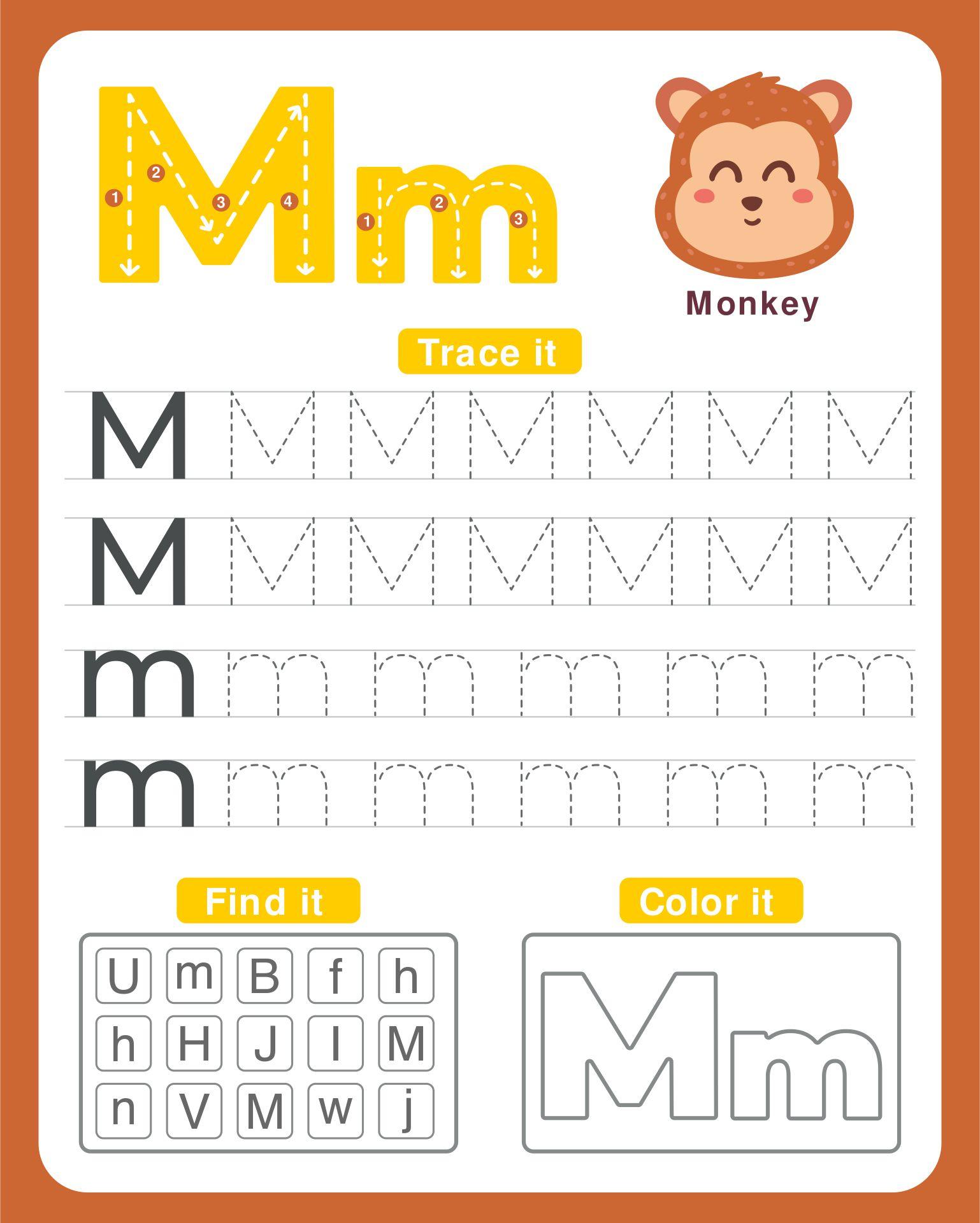 Free Printable Letter M Worksheets