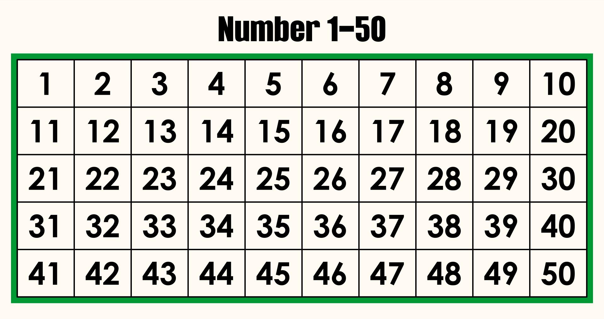 10 Best Printable Number Grid 1 50 - printablee.com