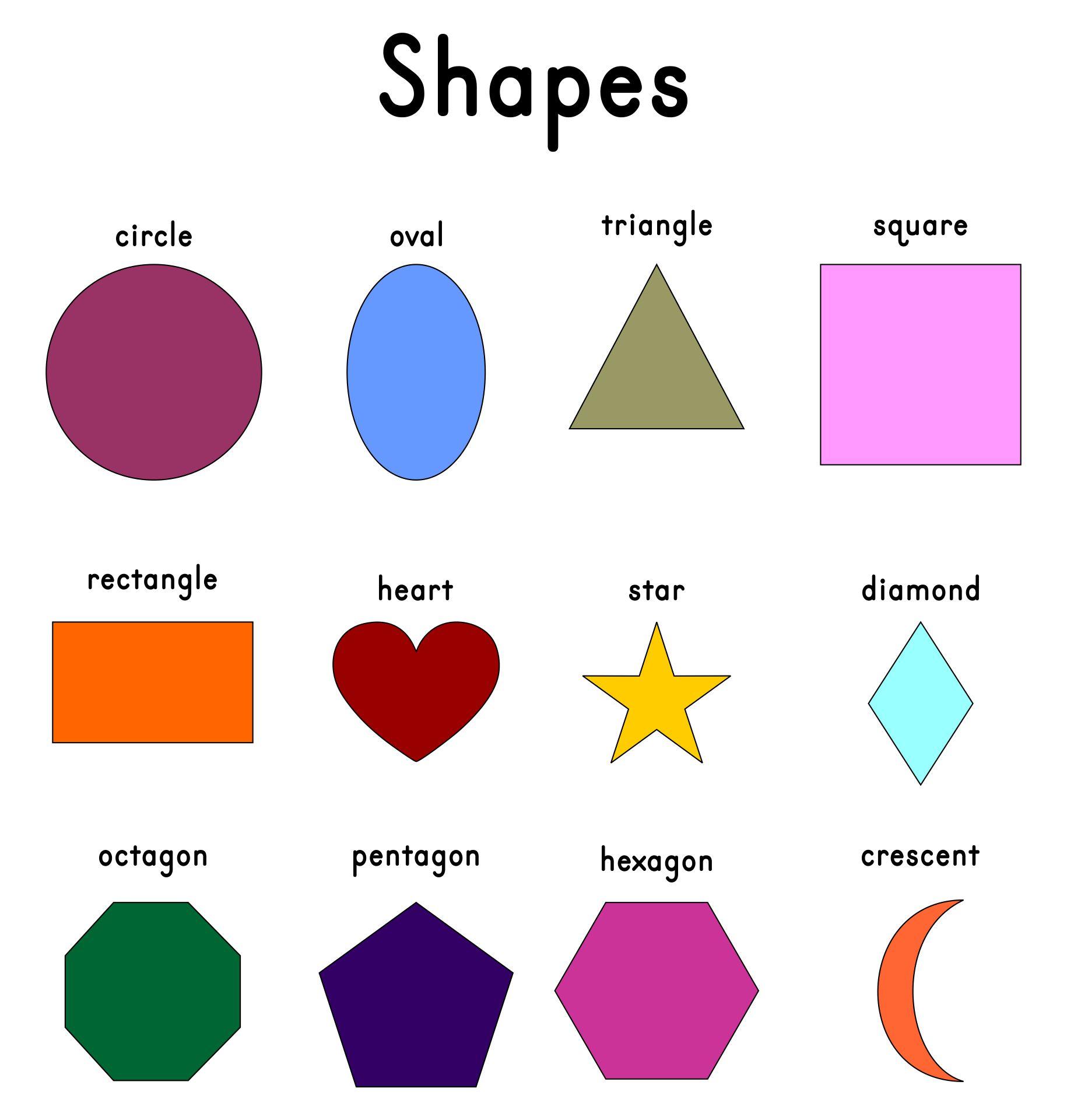 Free Printable Shapes Chart