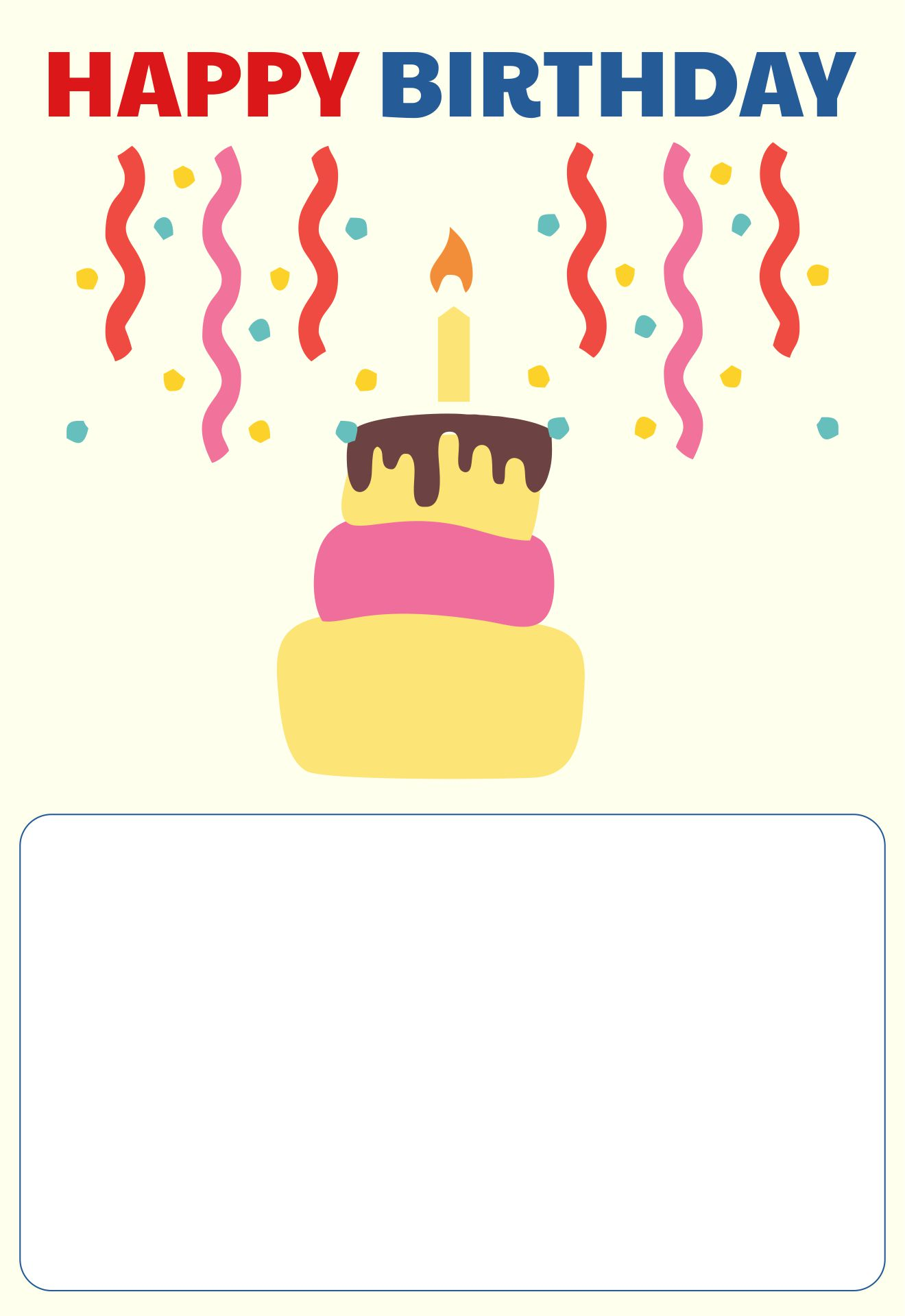 Happy Birthday Wishes Card Template