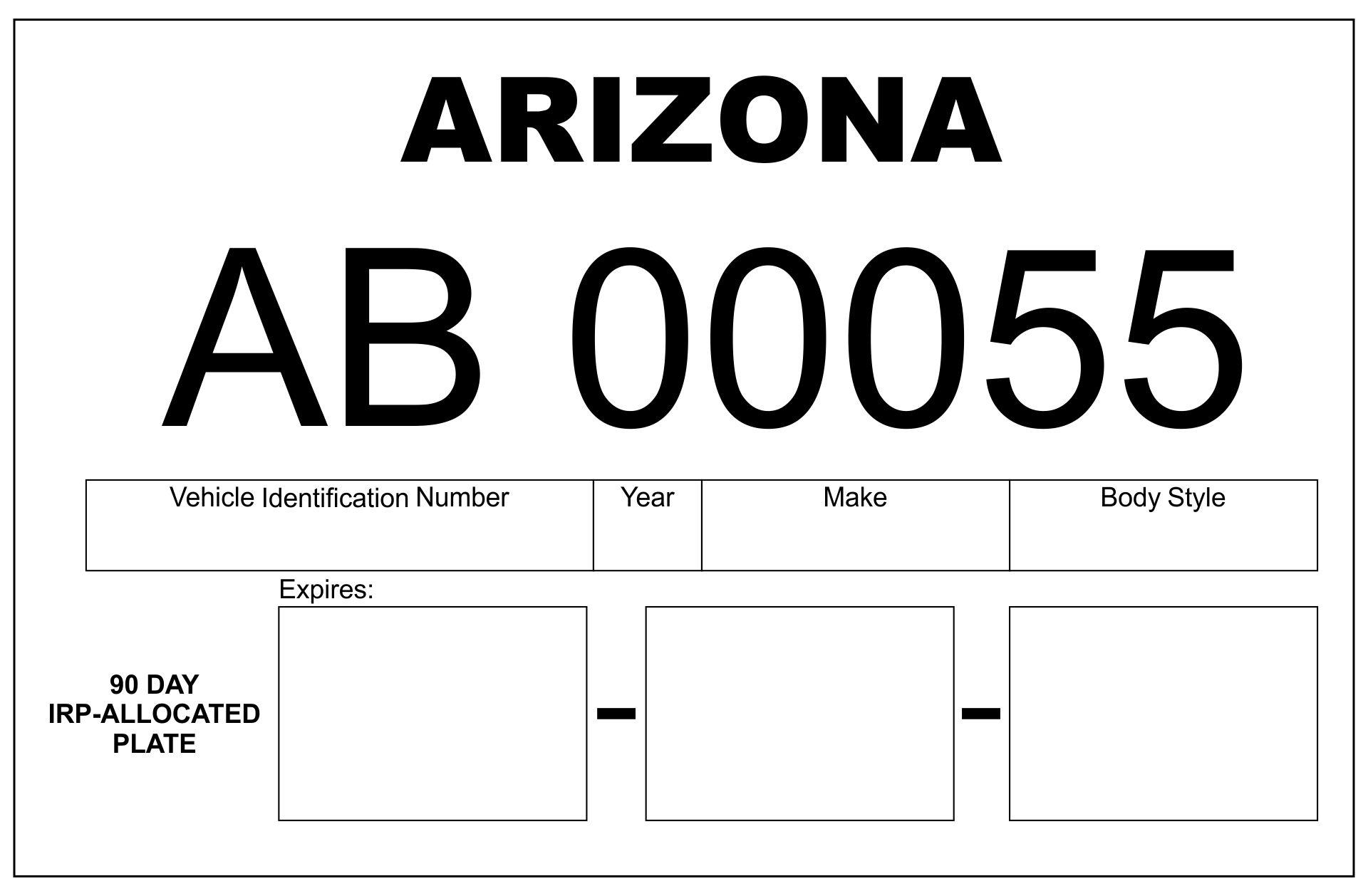 Print Temporary Tags Arizona