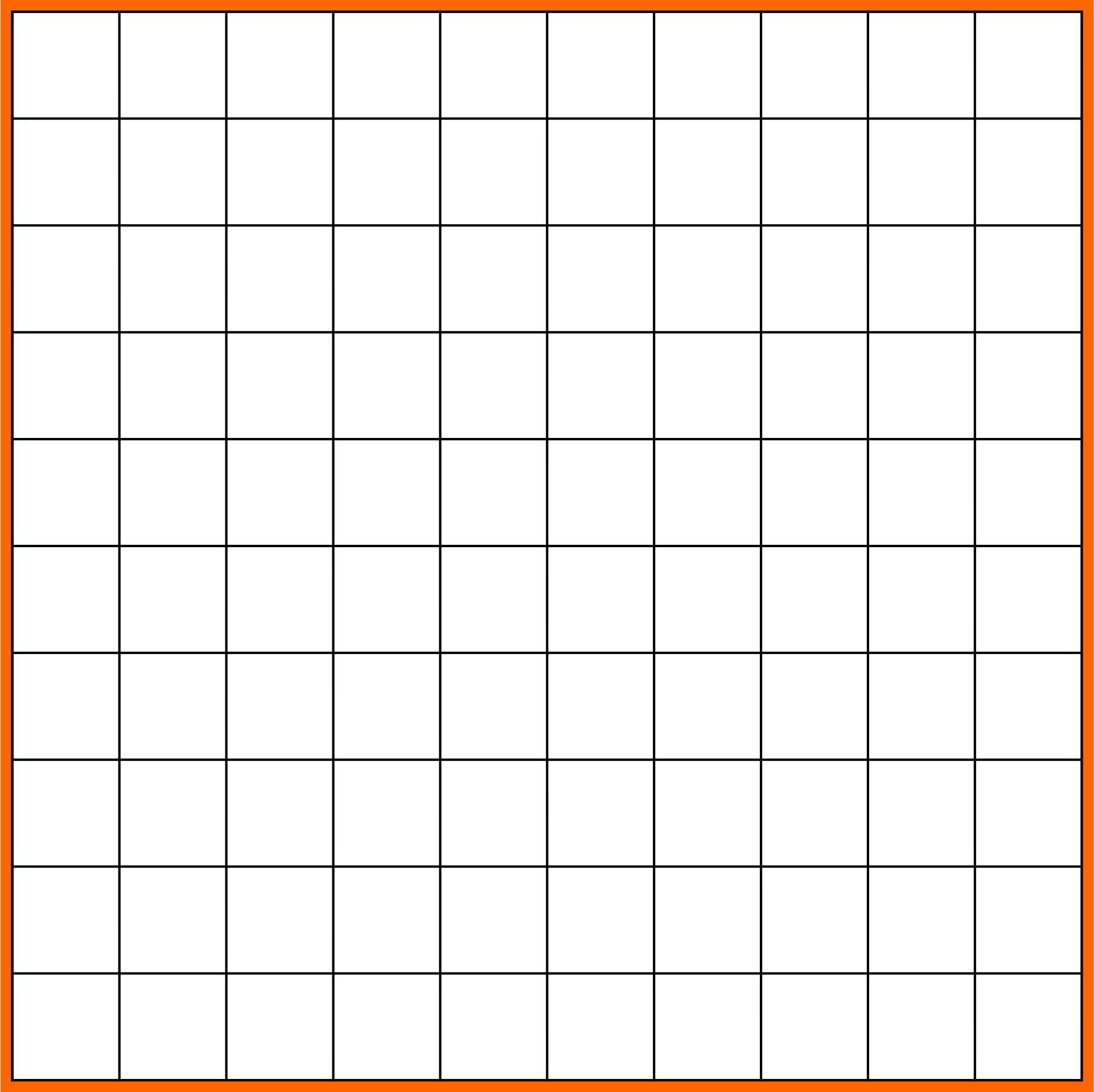 Printable Blank Hundreds Chart