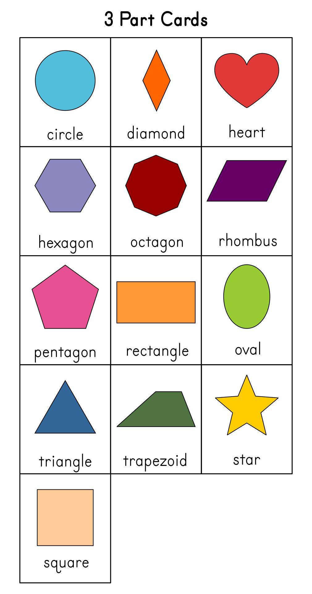 Printable Shapes For Kindergarten