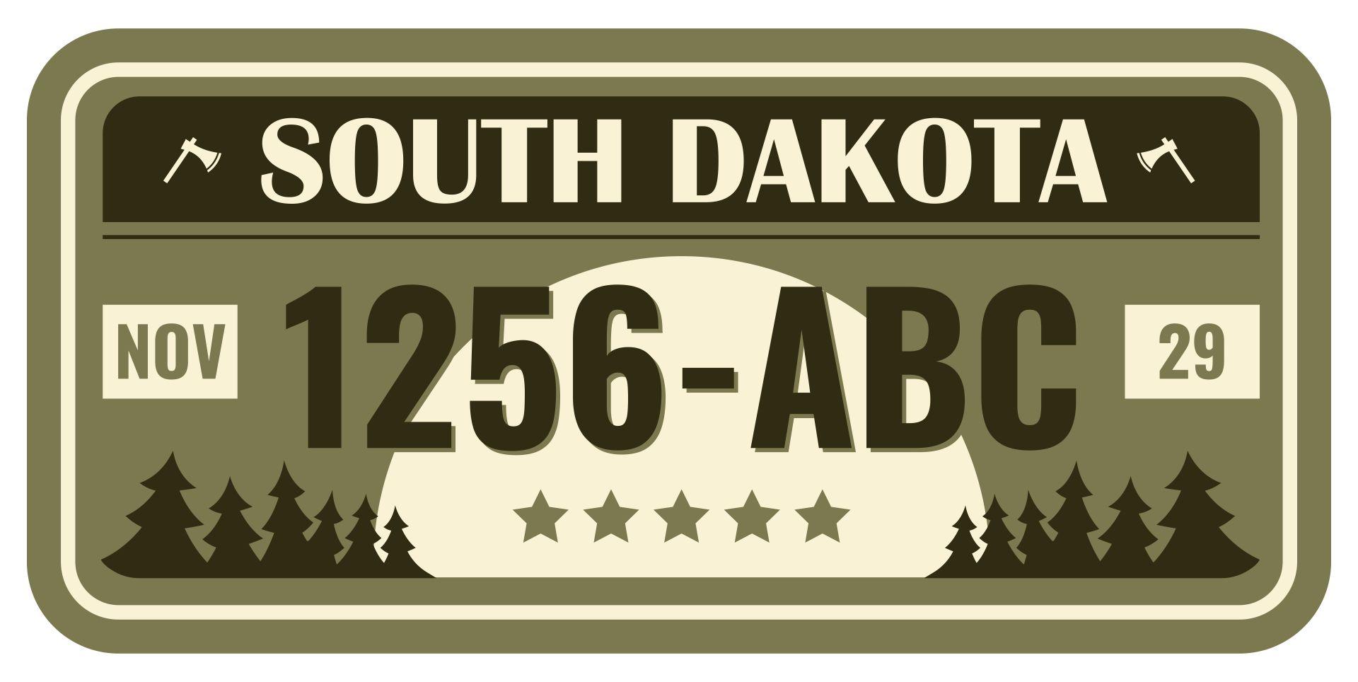 Printable Temporary License Plate South Dakota