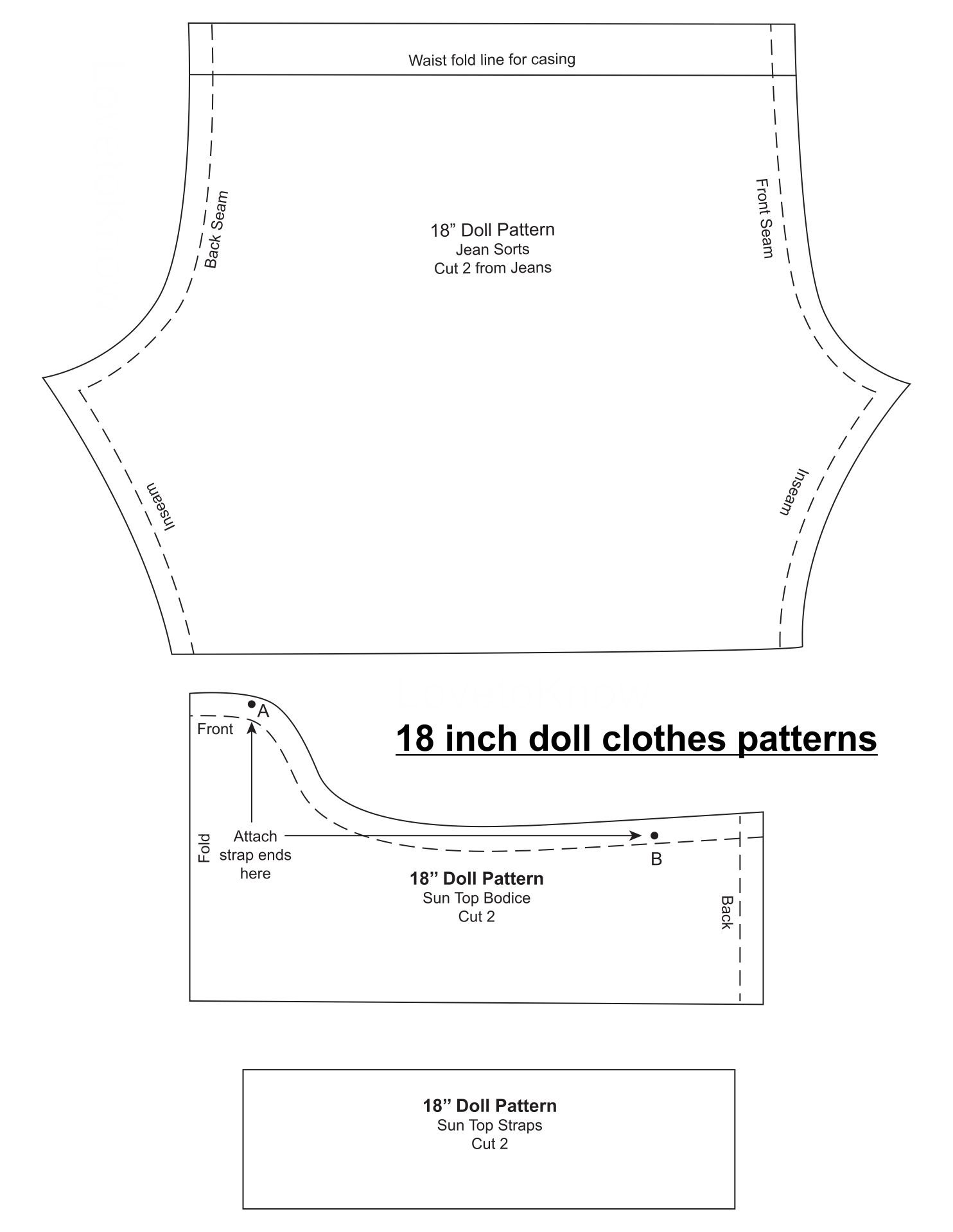 10 Best Free Printable 18 Inch Doll Clothes Patterns Printablee Com