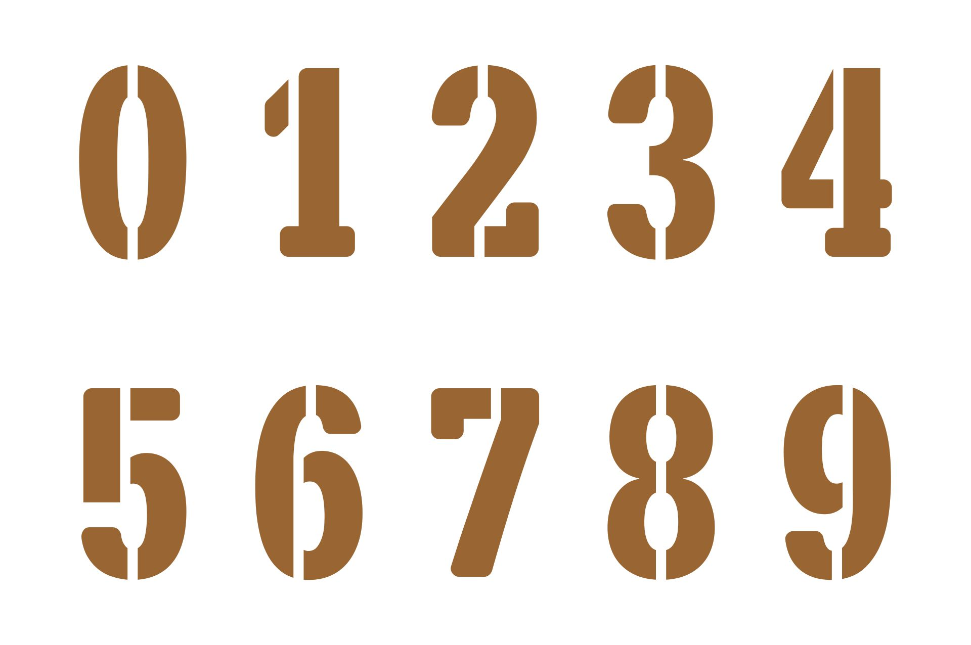2 Inch Number Stencils Printable