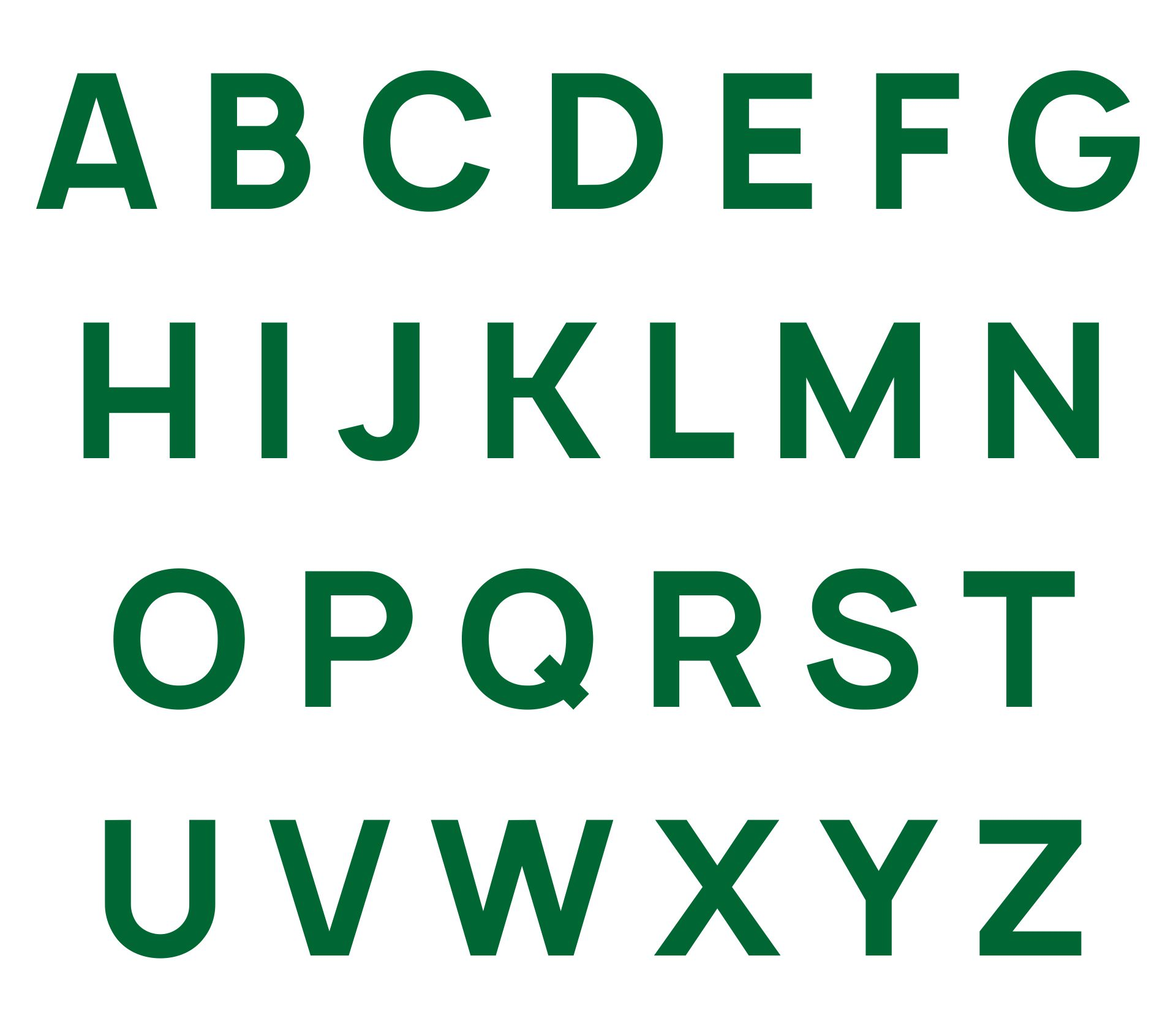 2 Inch Printable Alphabet Letters