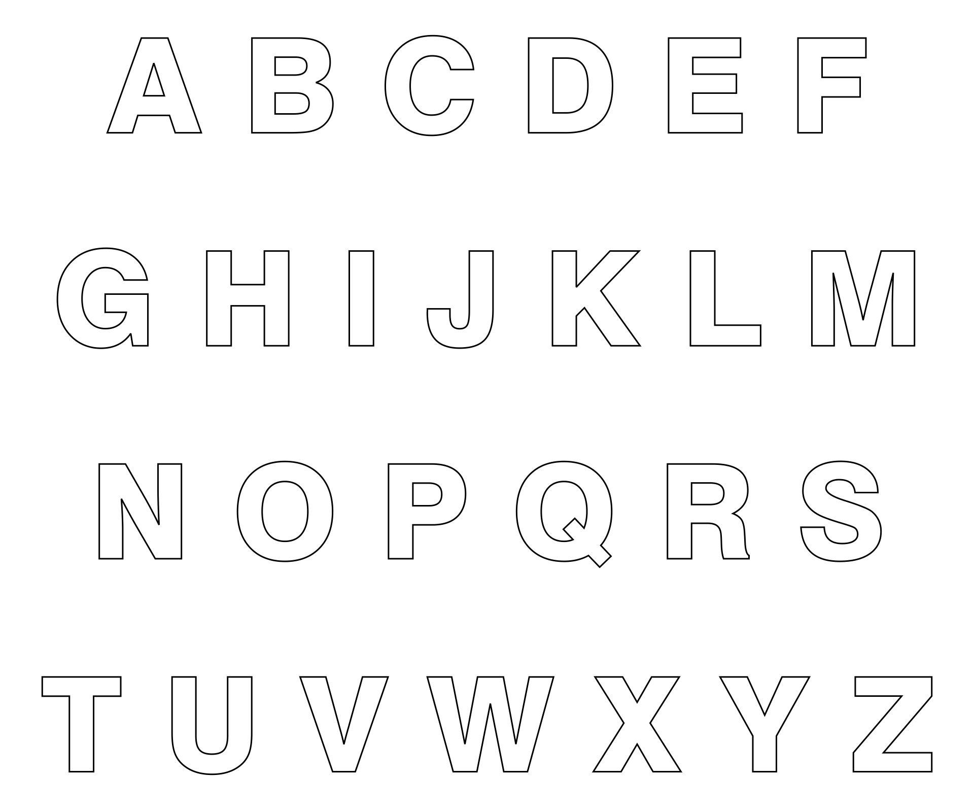 Alphabet Cut Outs Printable