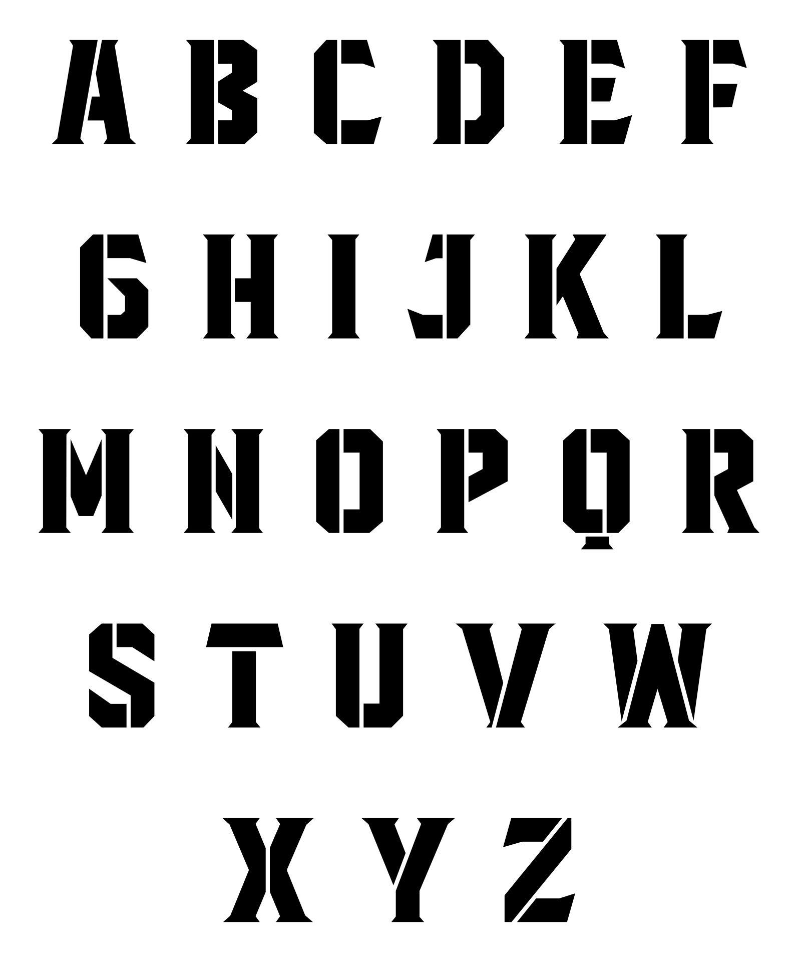 Fancy Alphabet Stencils