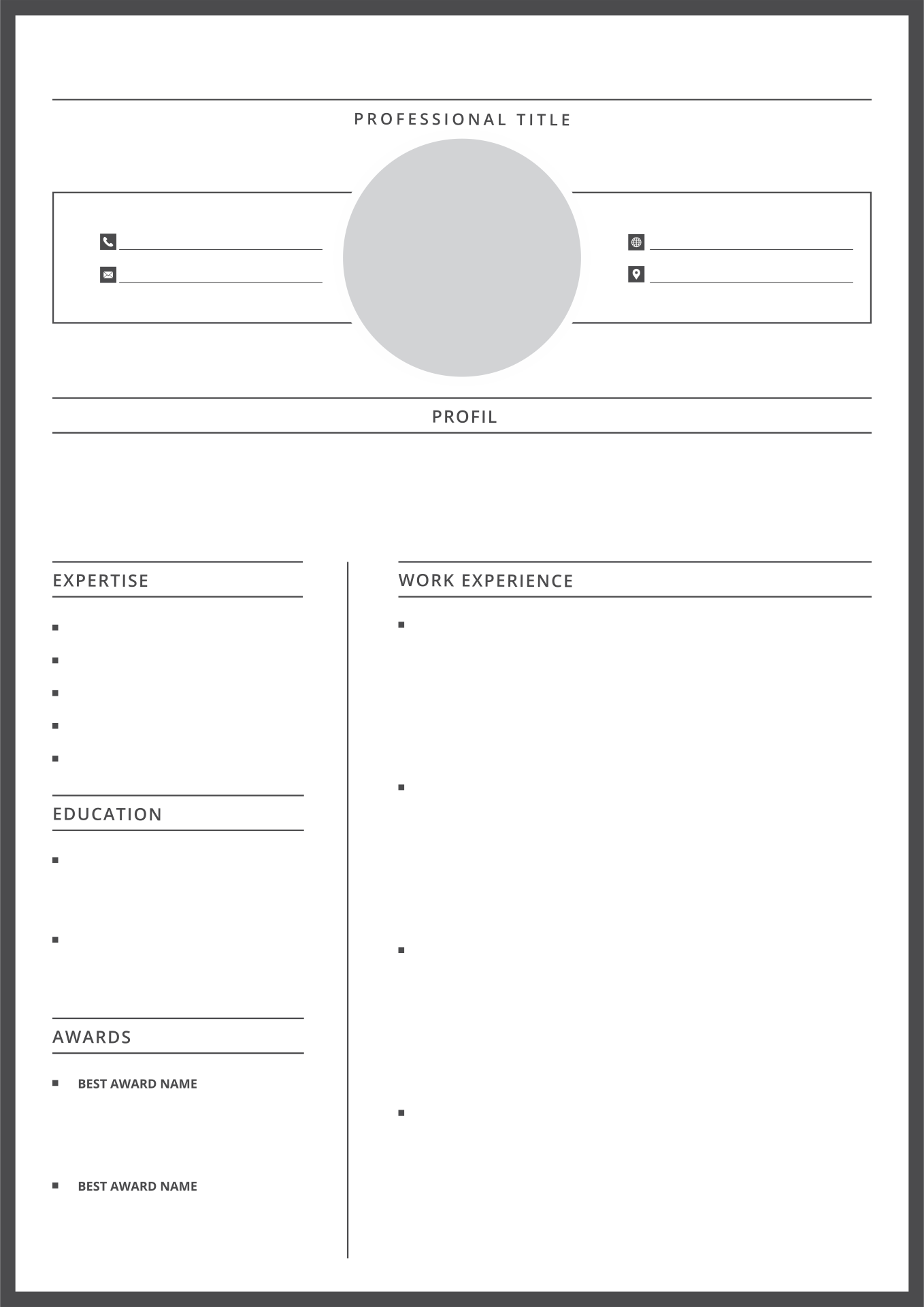 Fill In Blank Resume Template