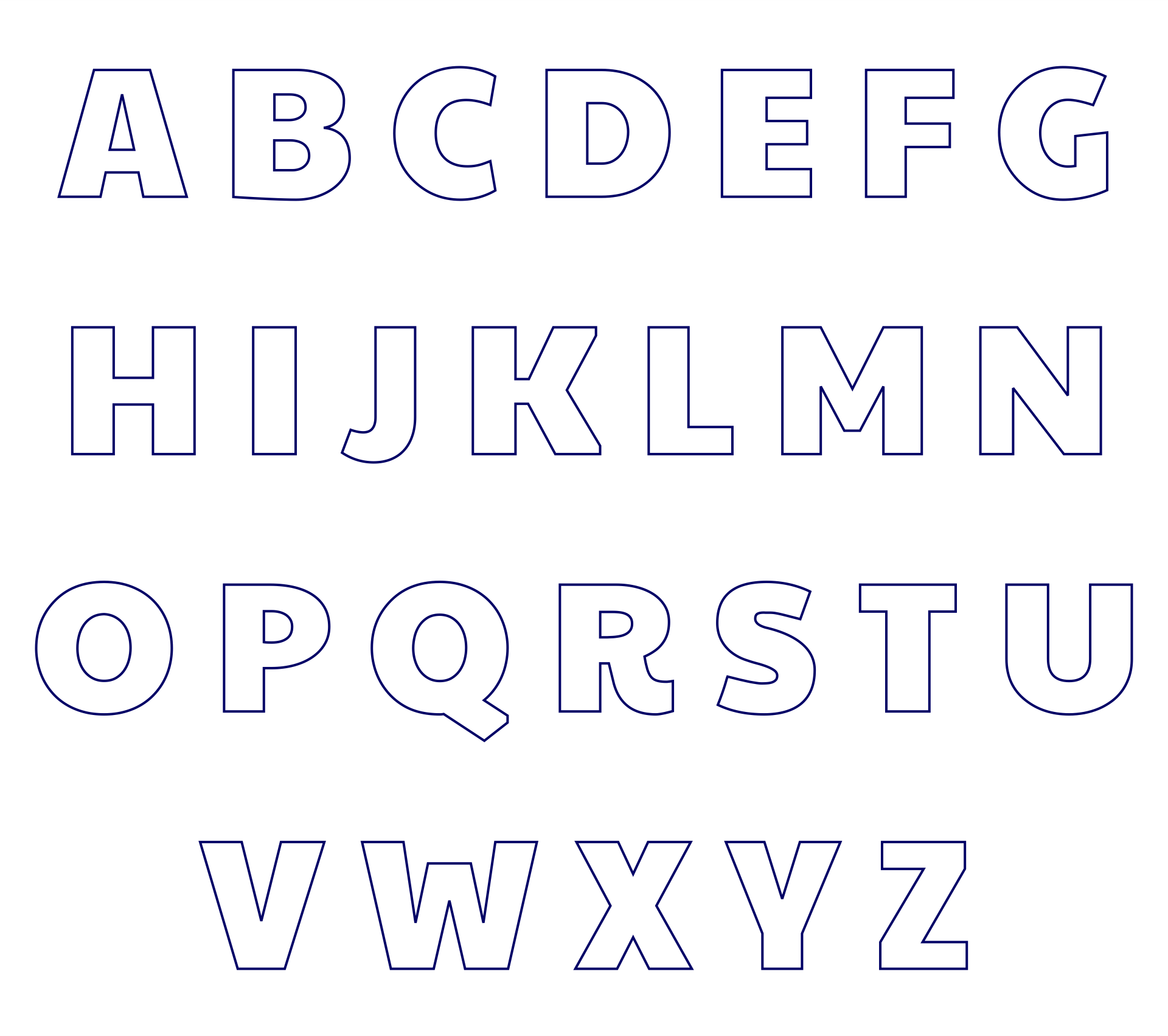 Free Alphabet Letter Templates To Print