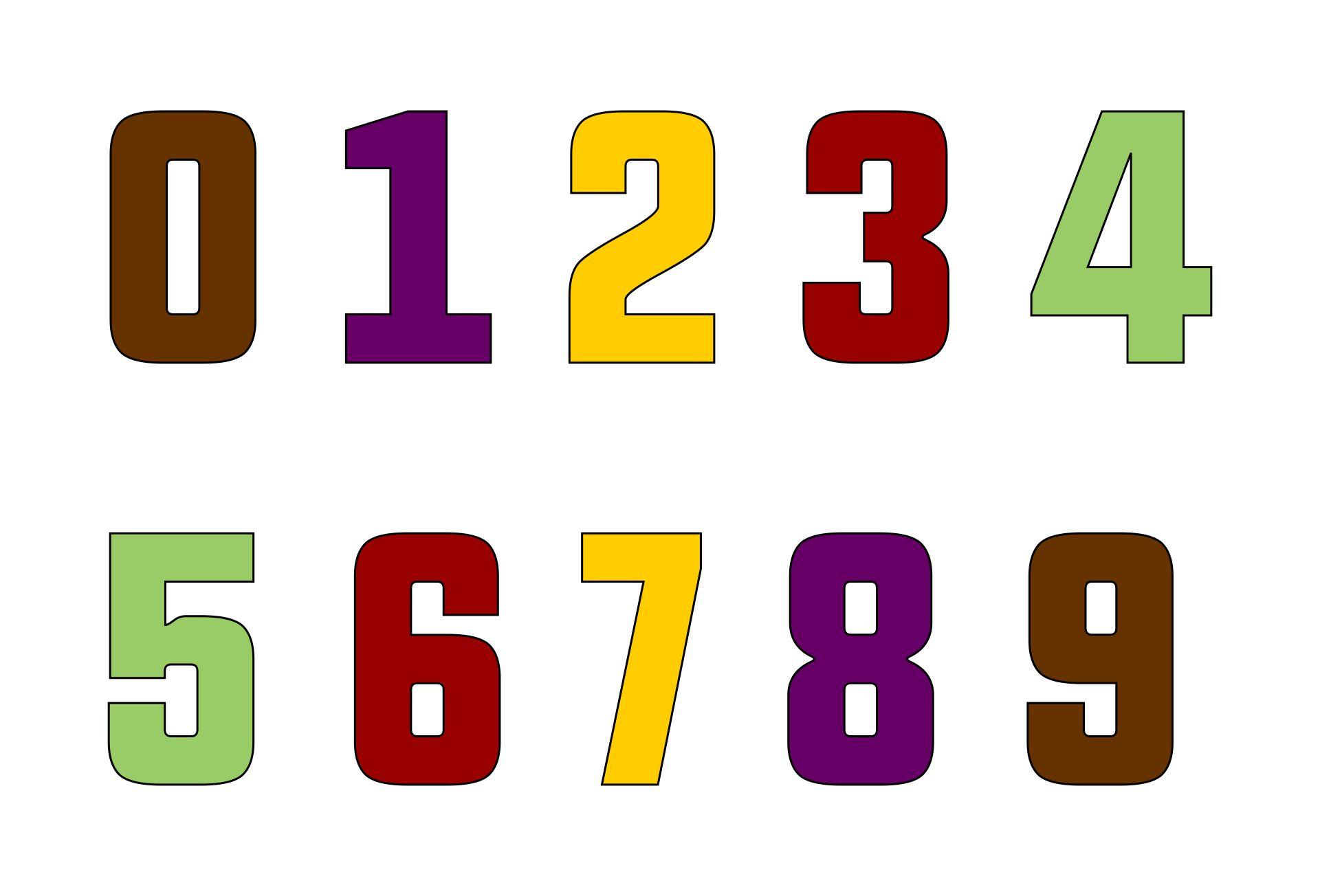 Free Large Printable Numbers 0-9