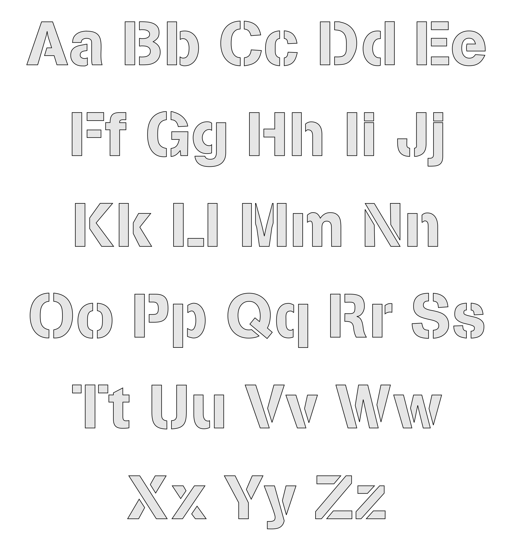 Free Printable Alphabet Stencils Templates