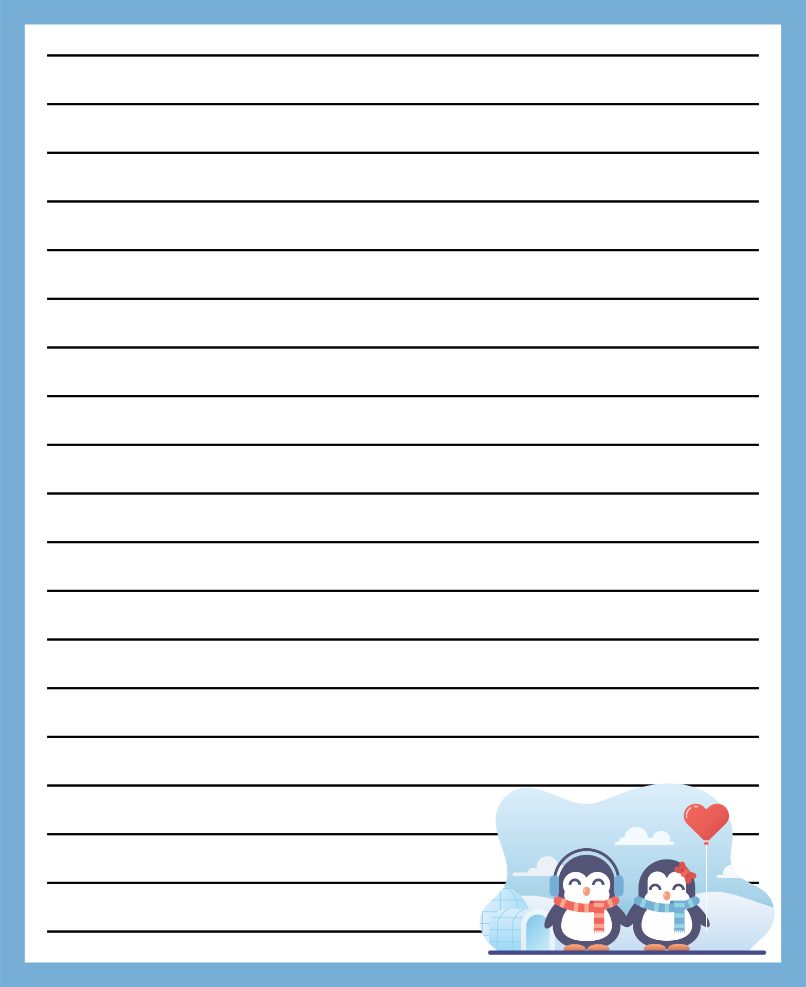 Free Printable Love Letter Stationery