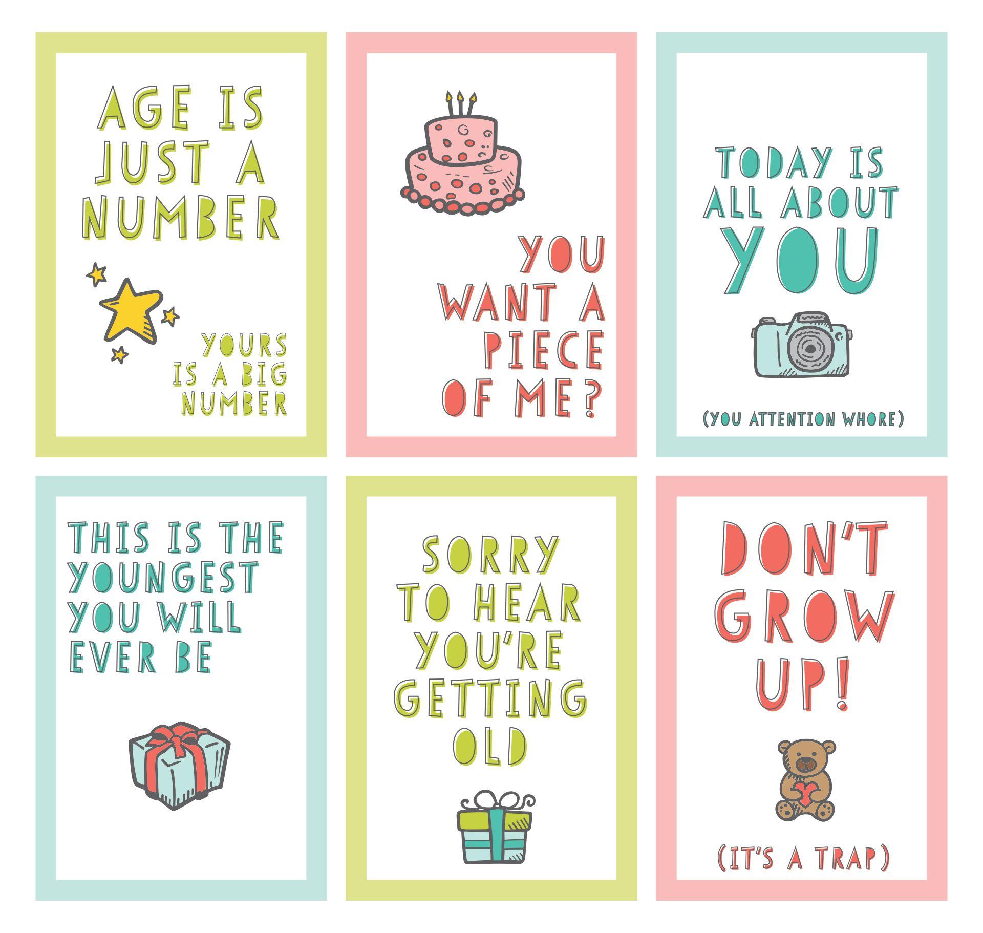 Funny Free Printable Birthday Cards To Print