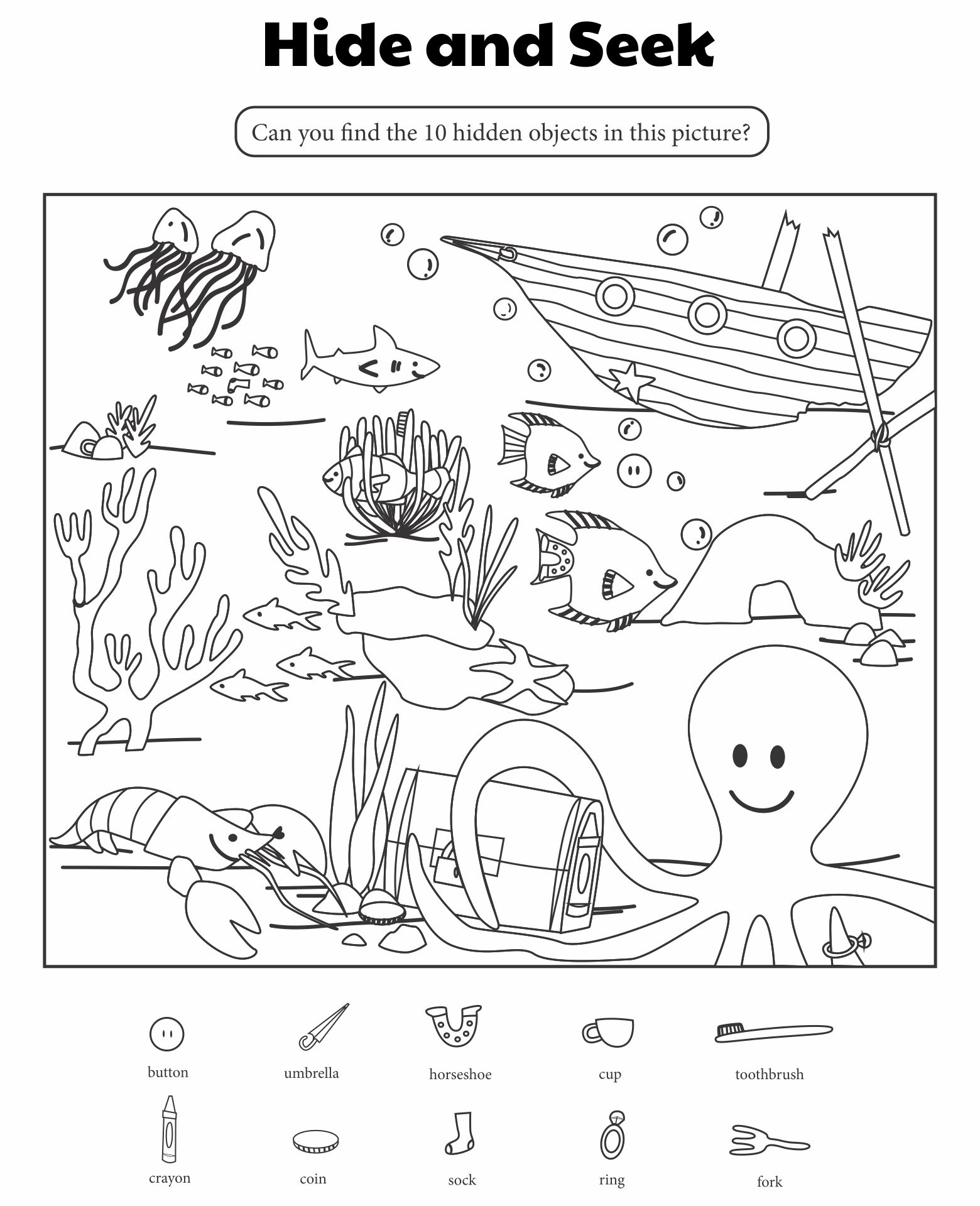 Hidden Object Games For Kids Printable