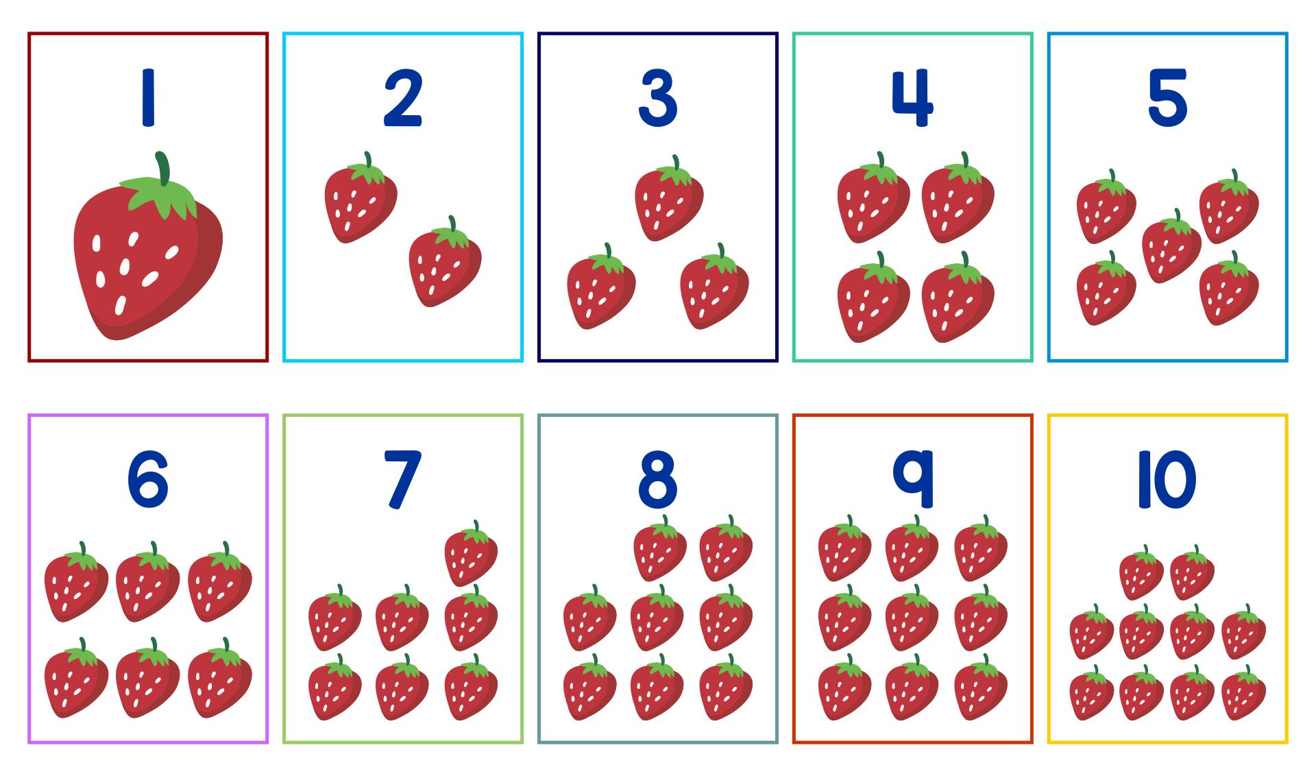 Number Flashcards For Kindergarten