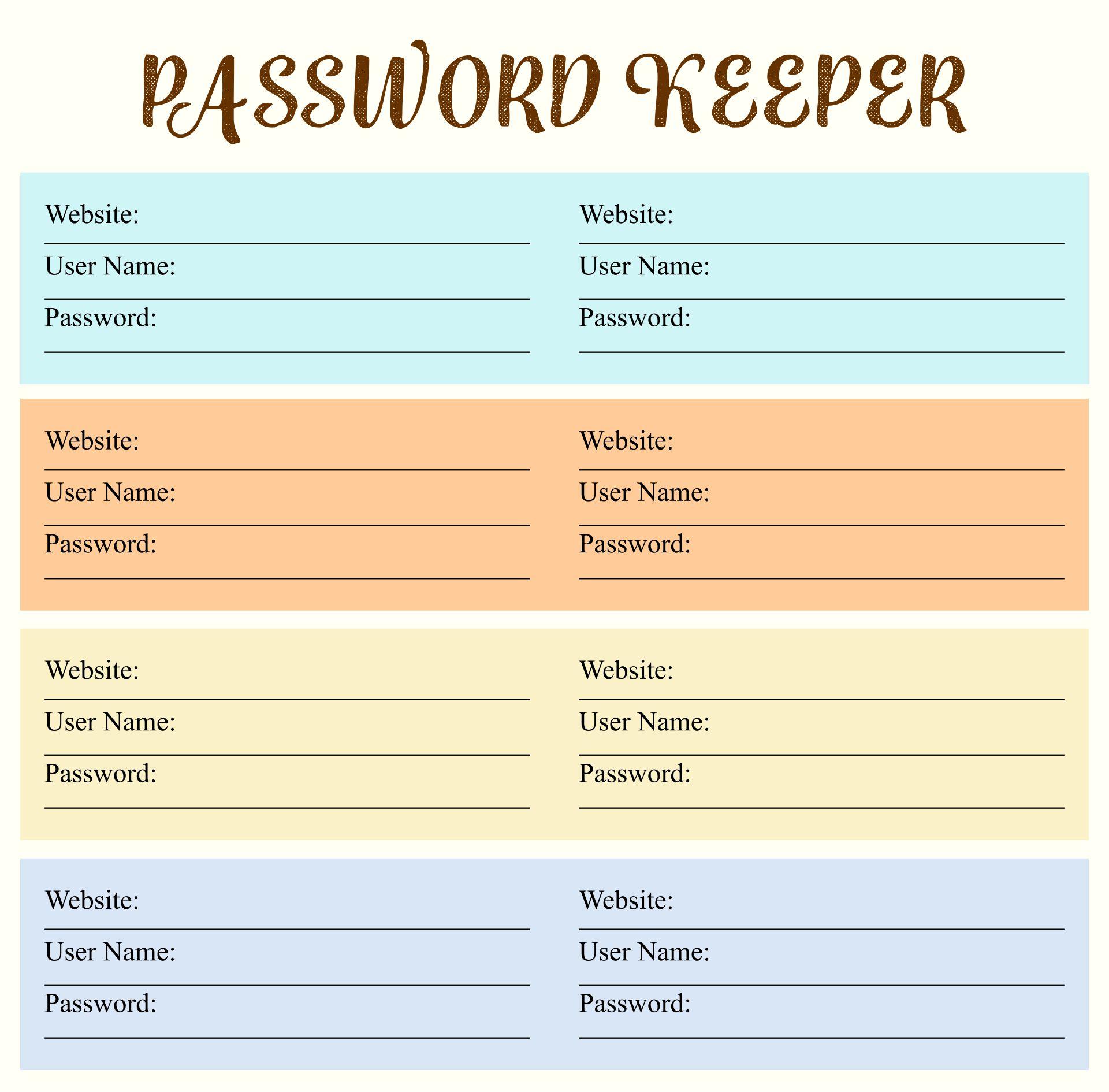 Password Keeper Template