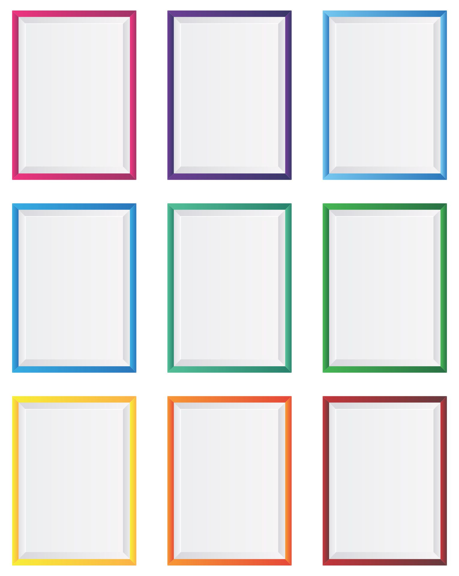 Picture Frame Template For Wall Printable