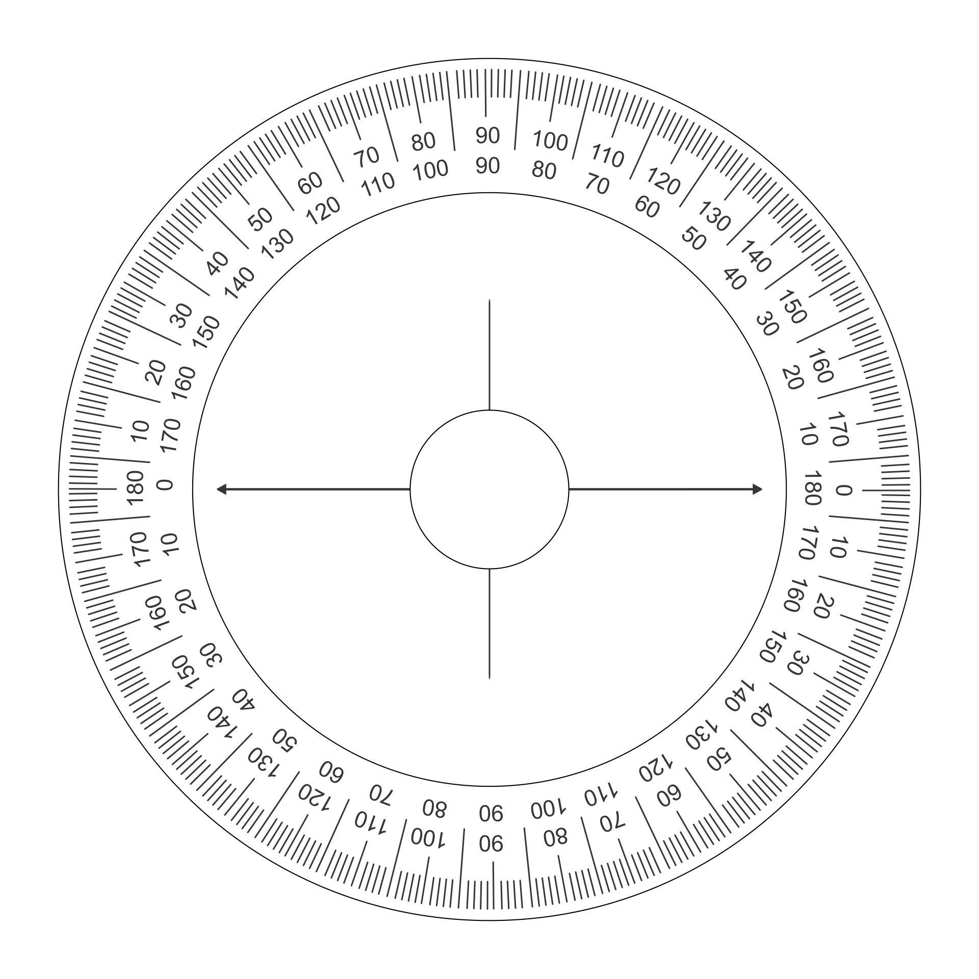 Printable 2-stroke Degree Wheel