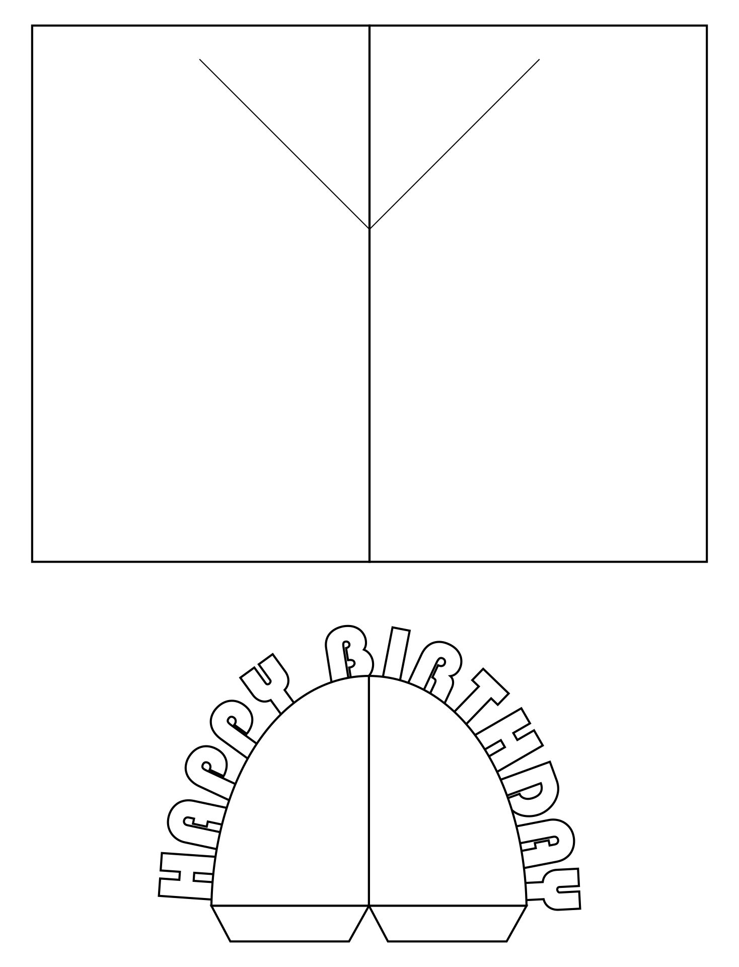 Printable Birthday Fold Out Cards