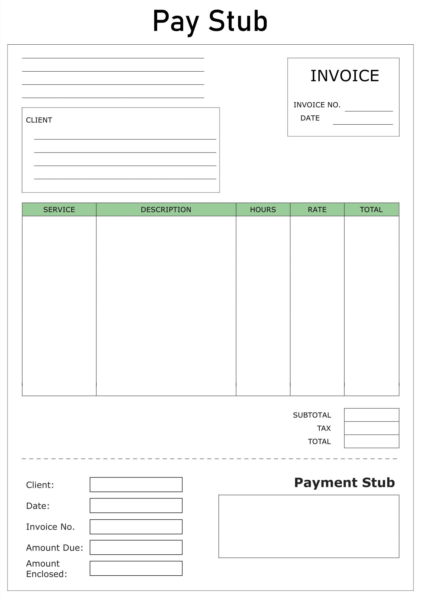 Printable Blank Payroll Check Template Free