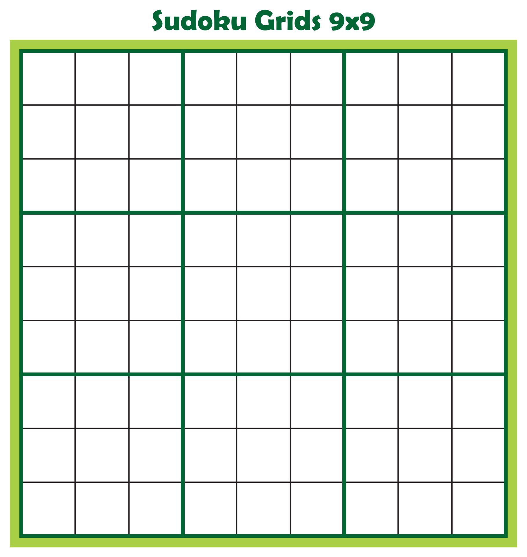 Printable Blank Sudoku Grids 9x9