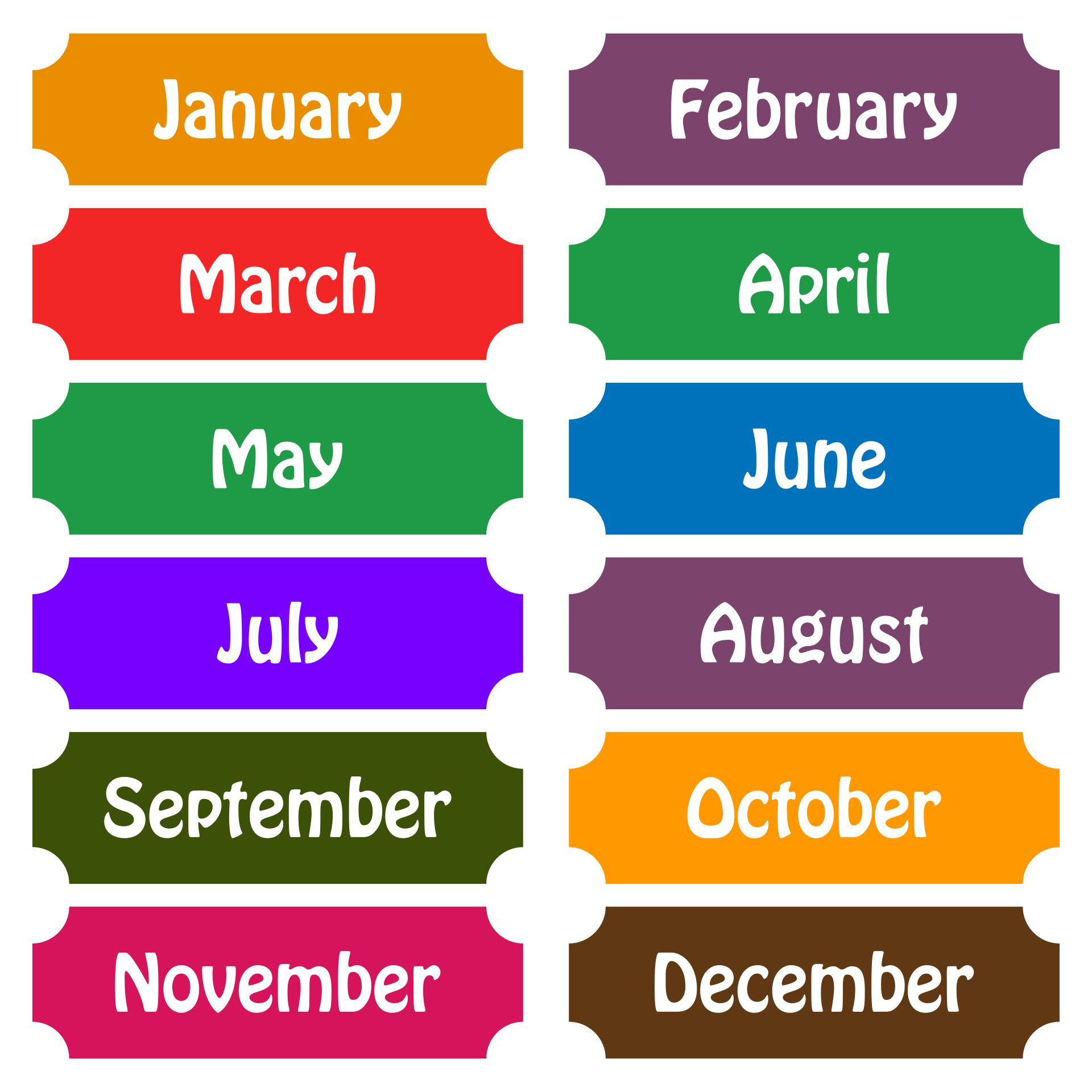 Printable Calendar Months Of The Year Pdf