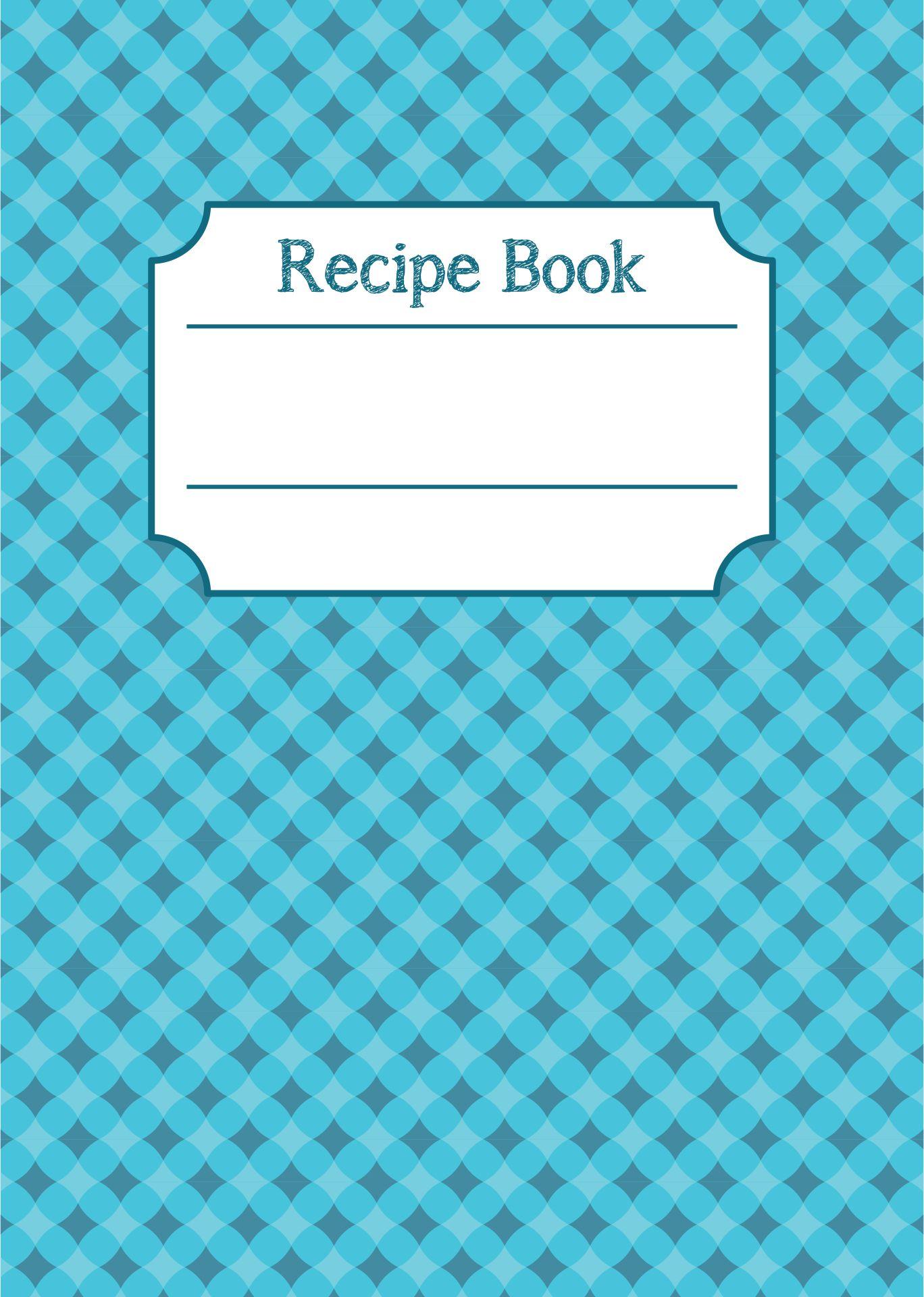 Printable Cookbook Cover Design Ideas
