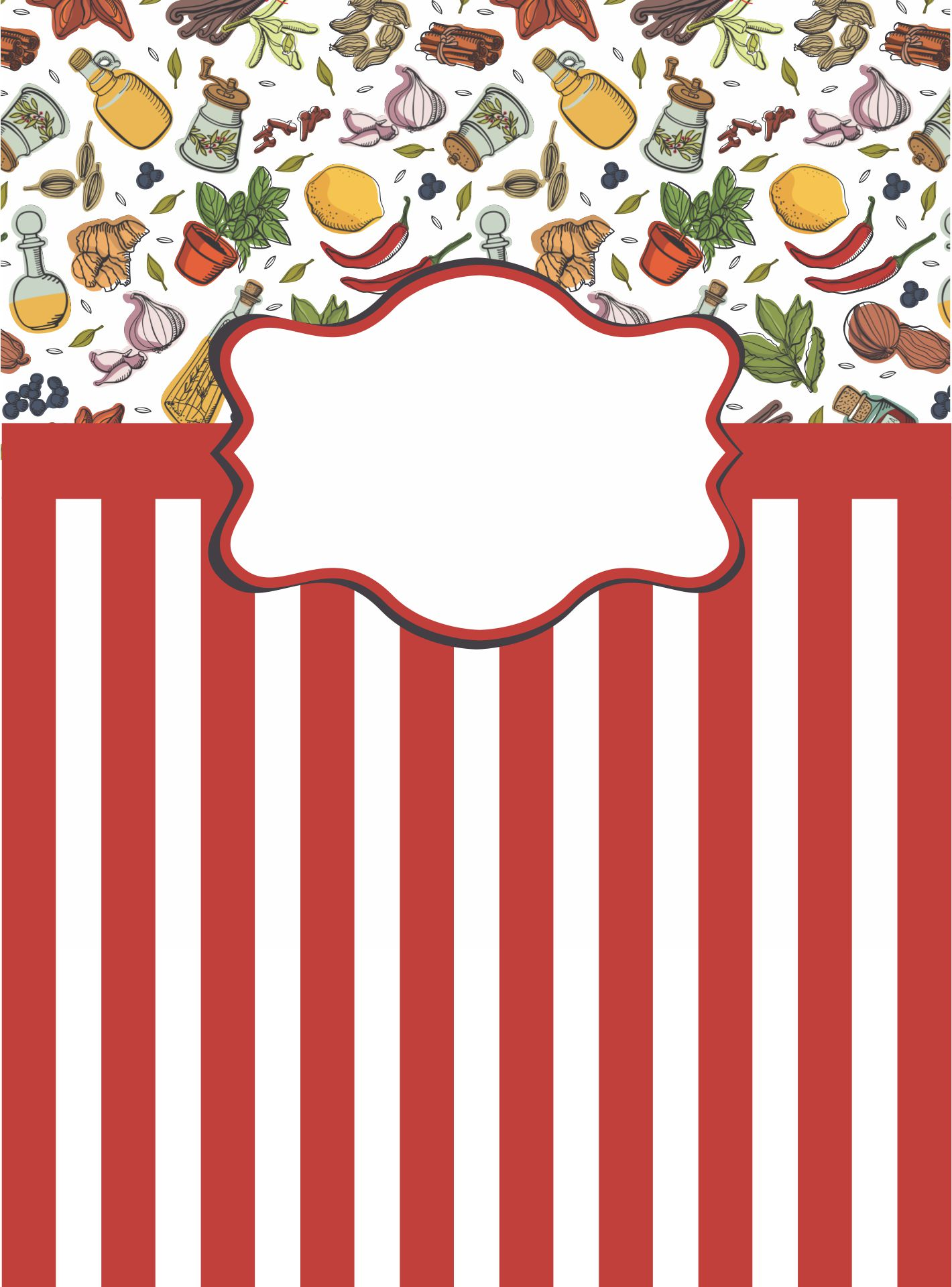 Printable Cookbook Cover Design Template