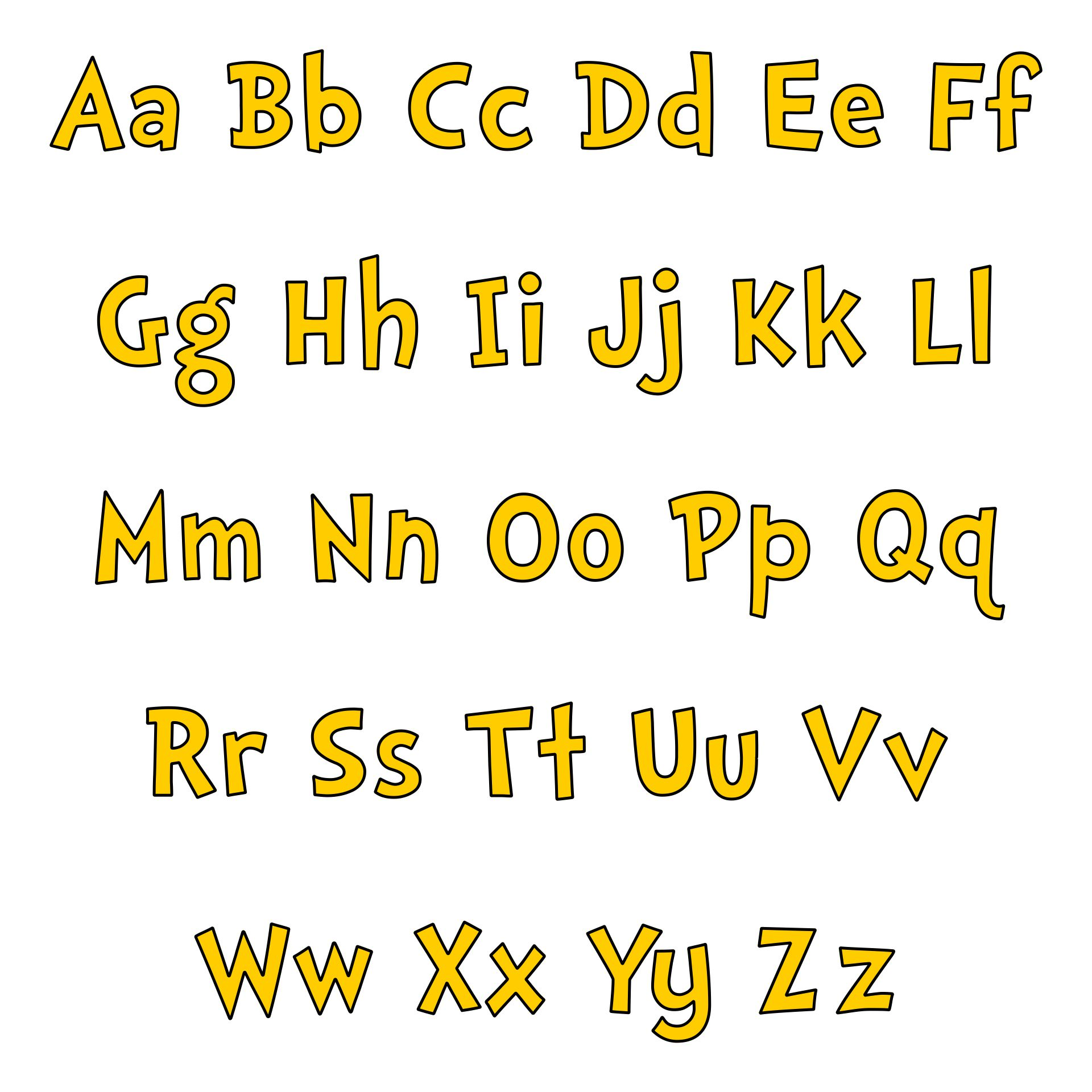 Printable Cut Out Letters For Bulletin Boards