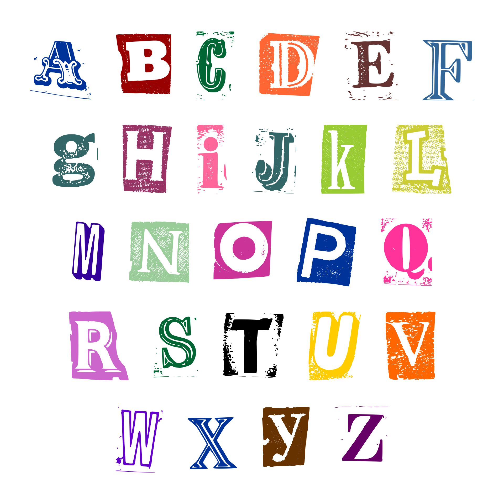 Printable Cut Out Letters From Magazines