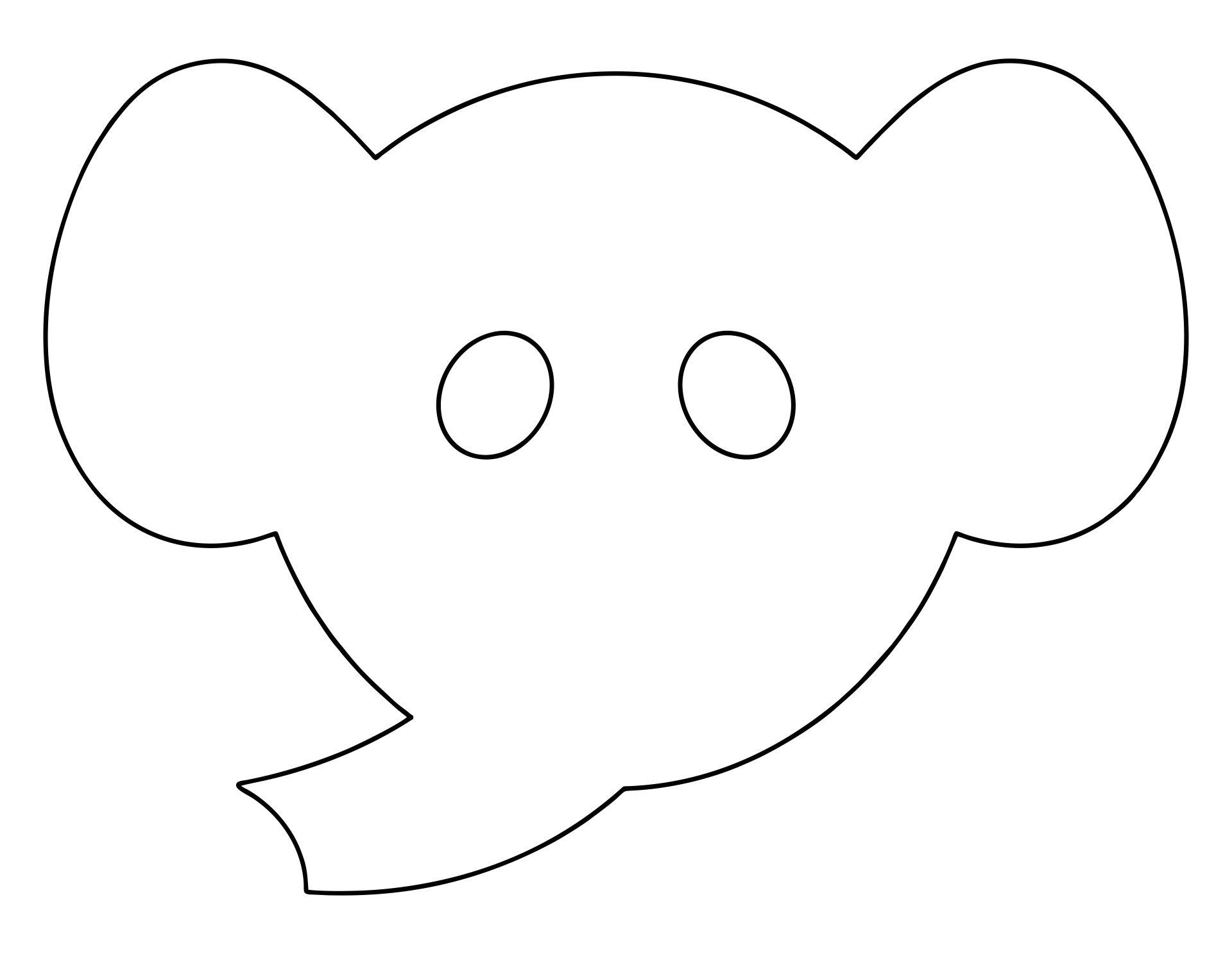 Printable Elephant Head Template