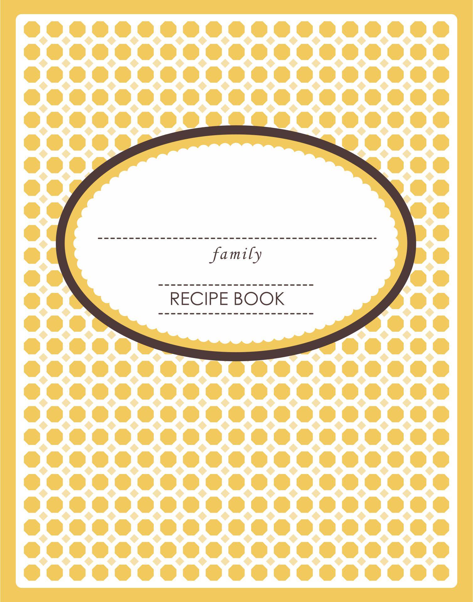 10 Best Printable Cookbook Covers To Print Printablee Com