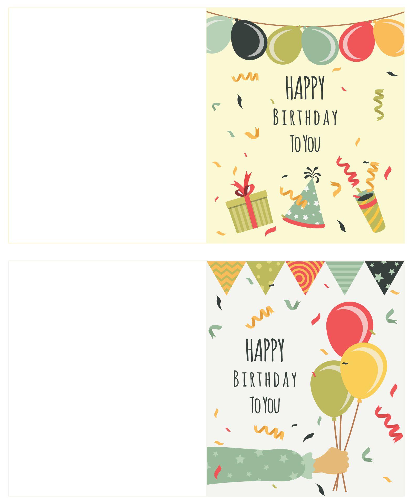 Printable Foldable Birthday Cards To Print