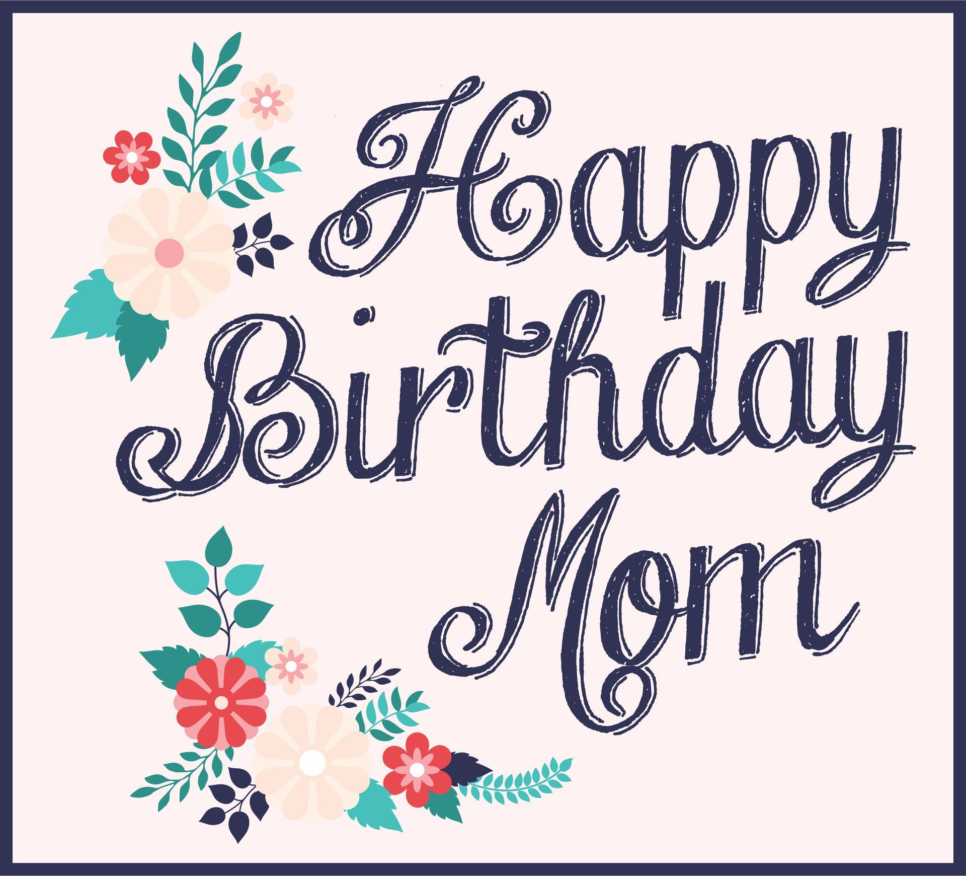 Printable Handmade Birthday Cards For Mom