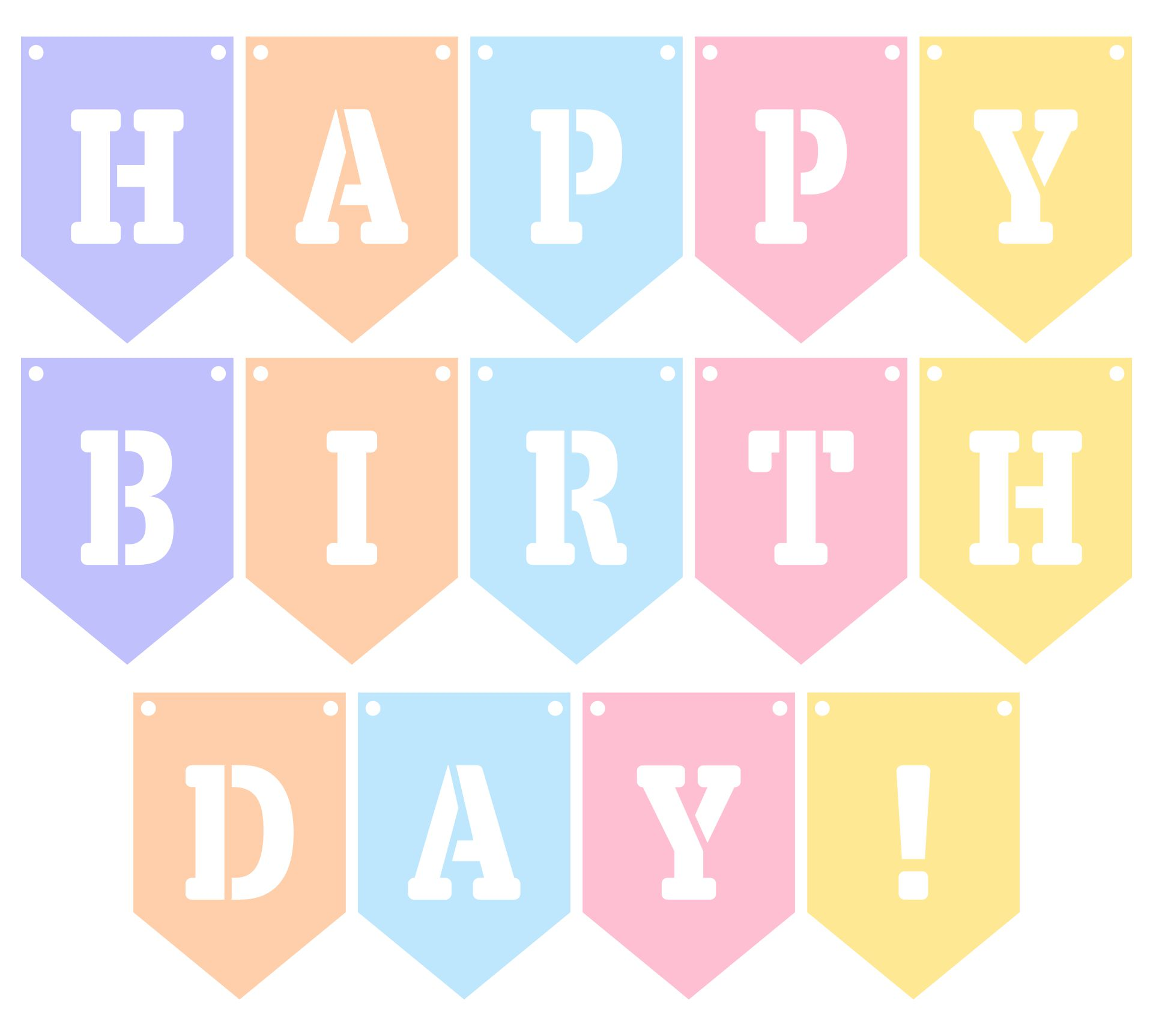 Printable Happy Birthday Cut Out Letters