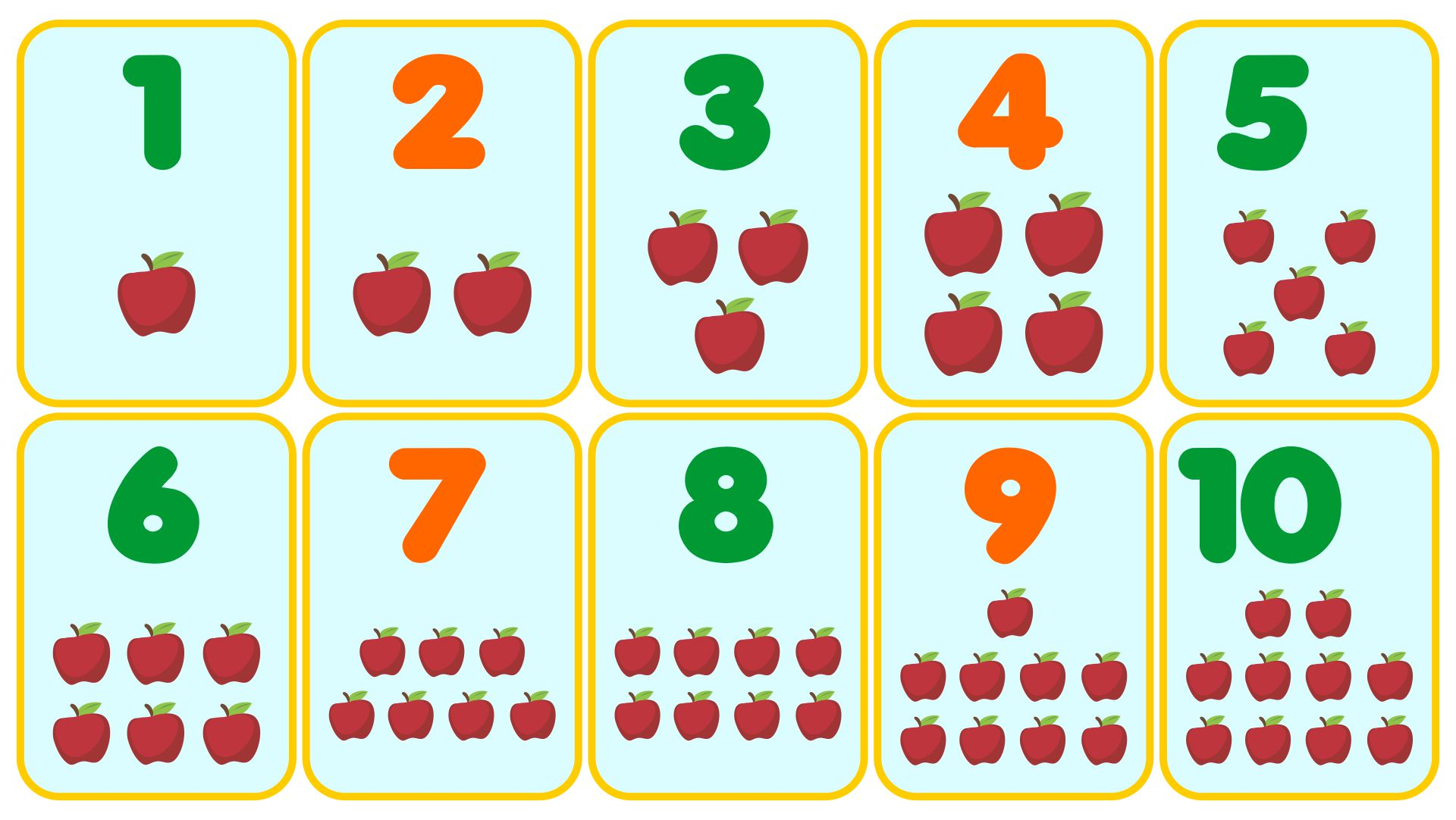 Printable Numbers With Pictures 1-10