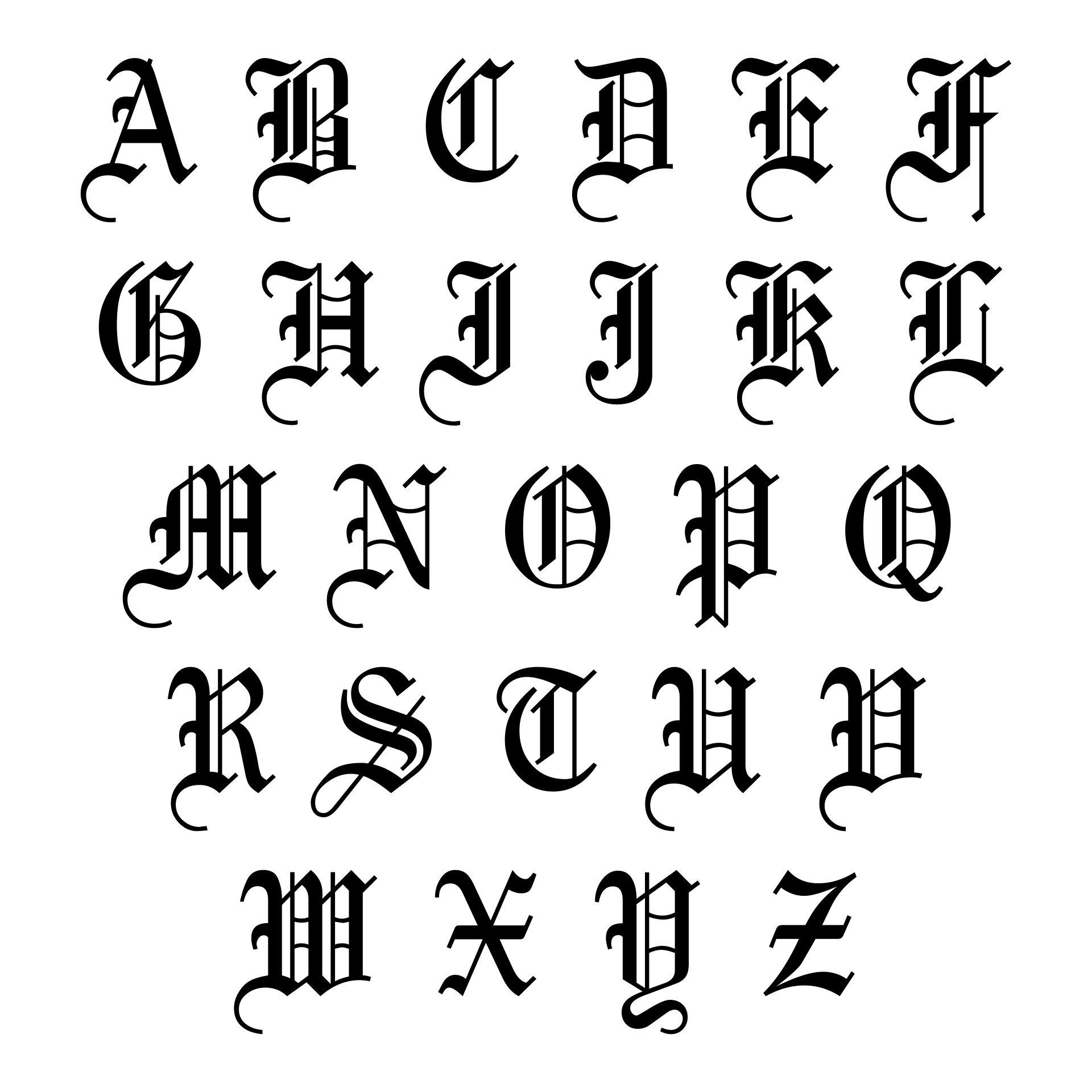 Printable Old English Alphabet A To Z