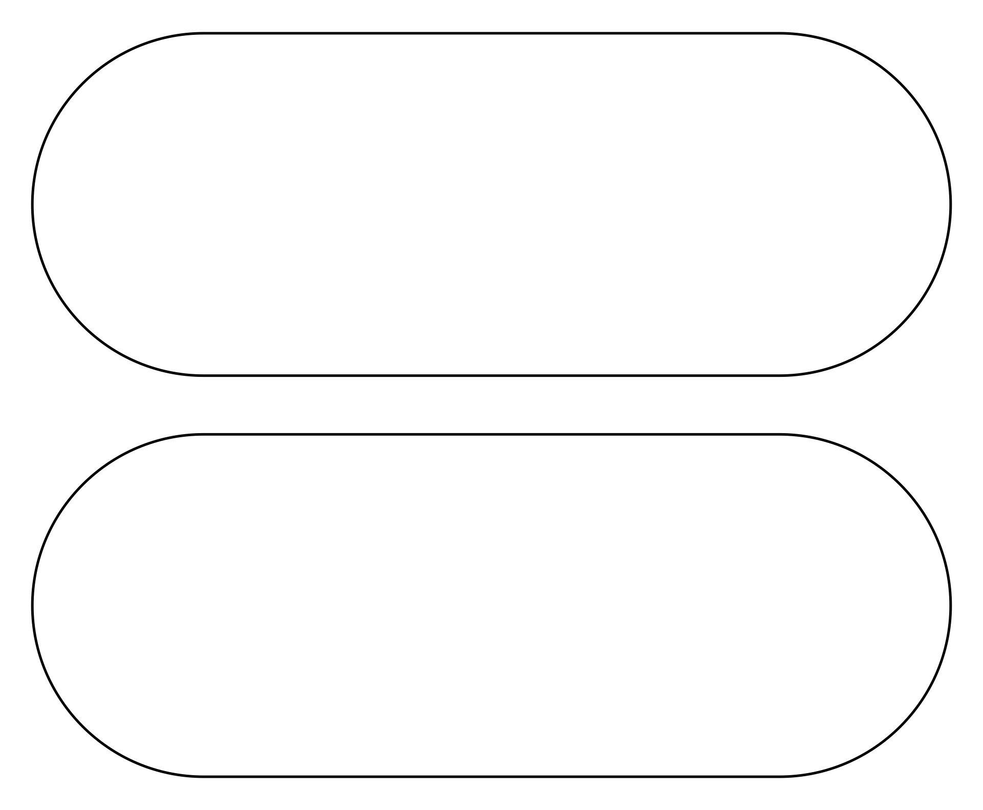 Printable Oval Tail Light Template