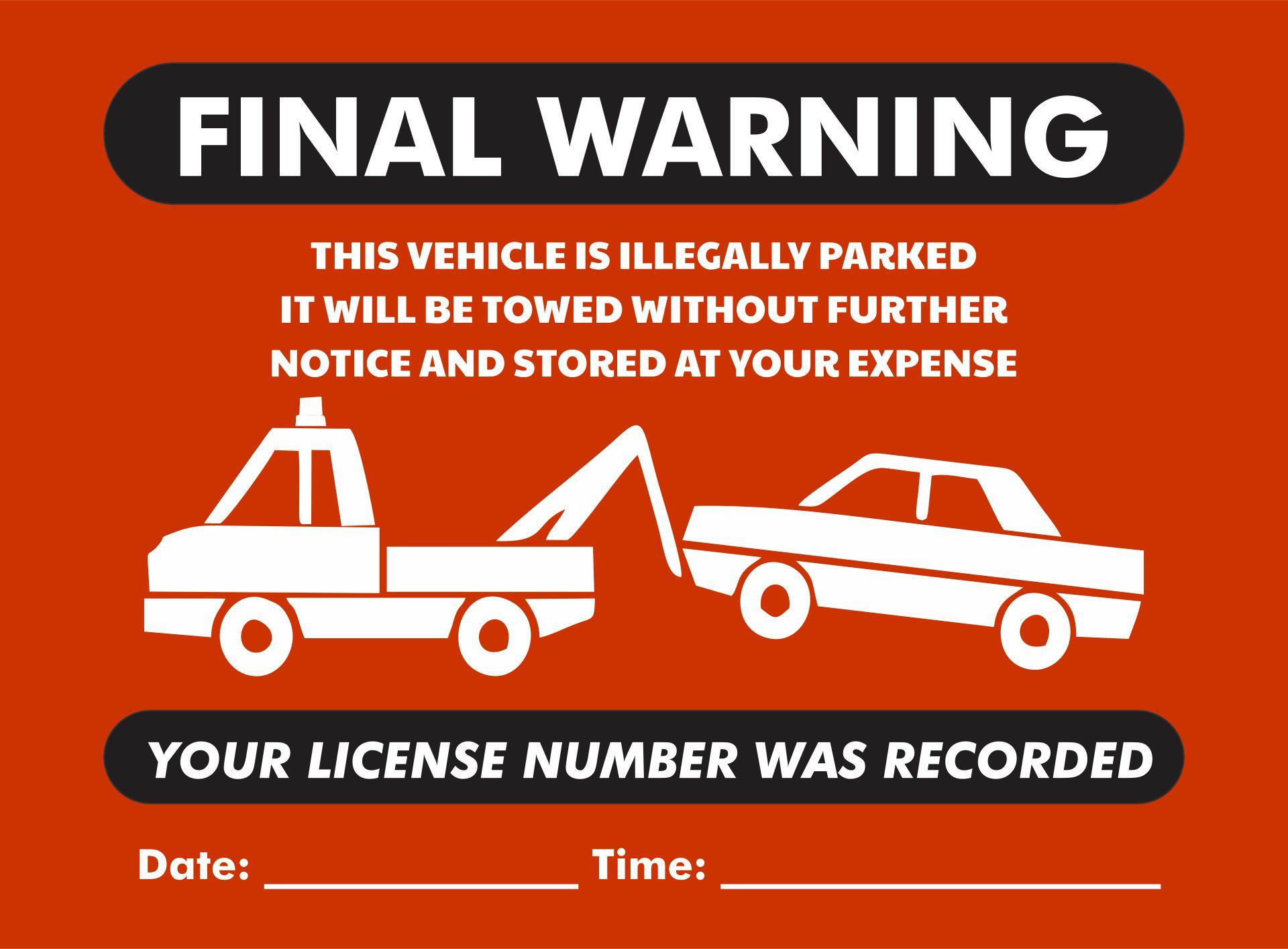 Printable Red Violation Tickets