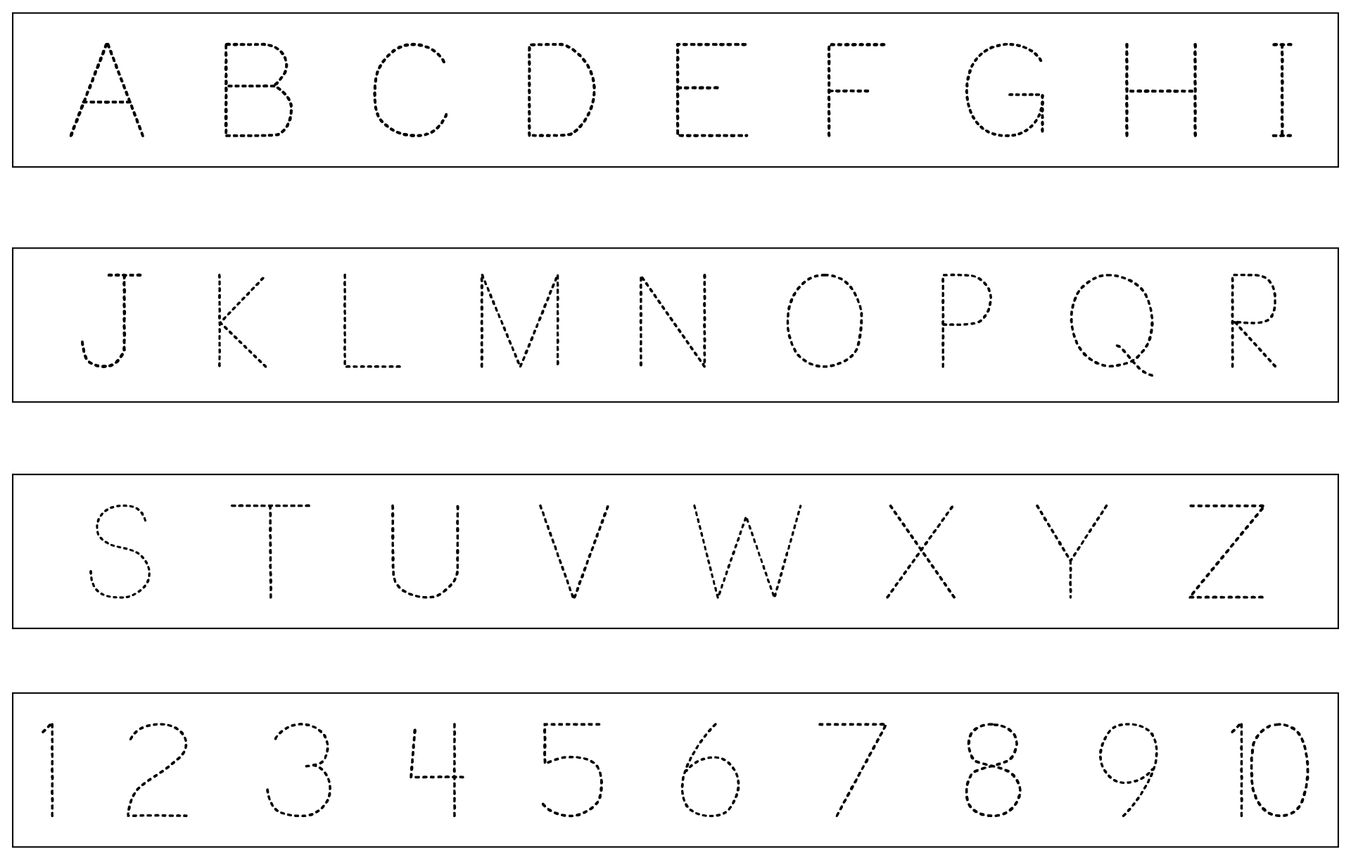 Printable Traceable Letters And Numbers