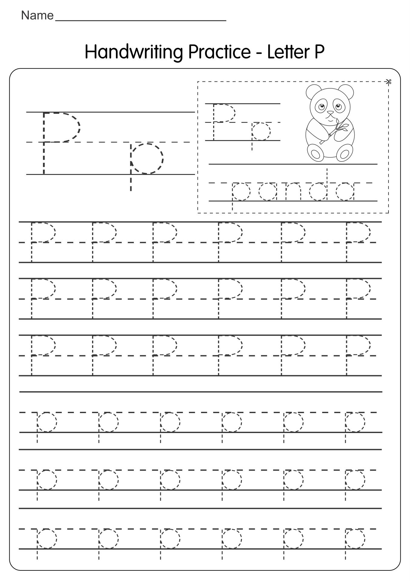 Printable Traceable Letters Worksheet