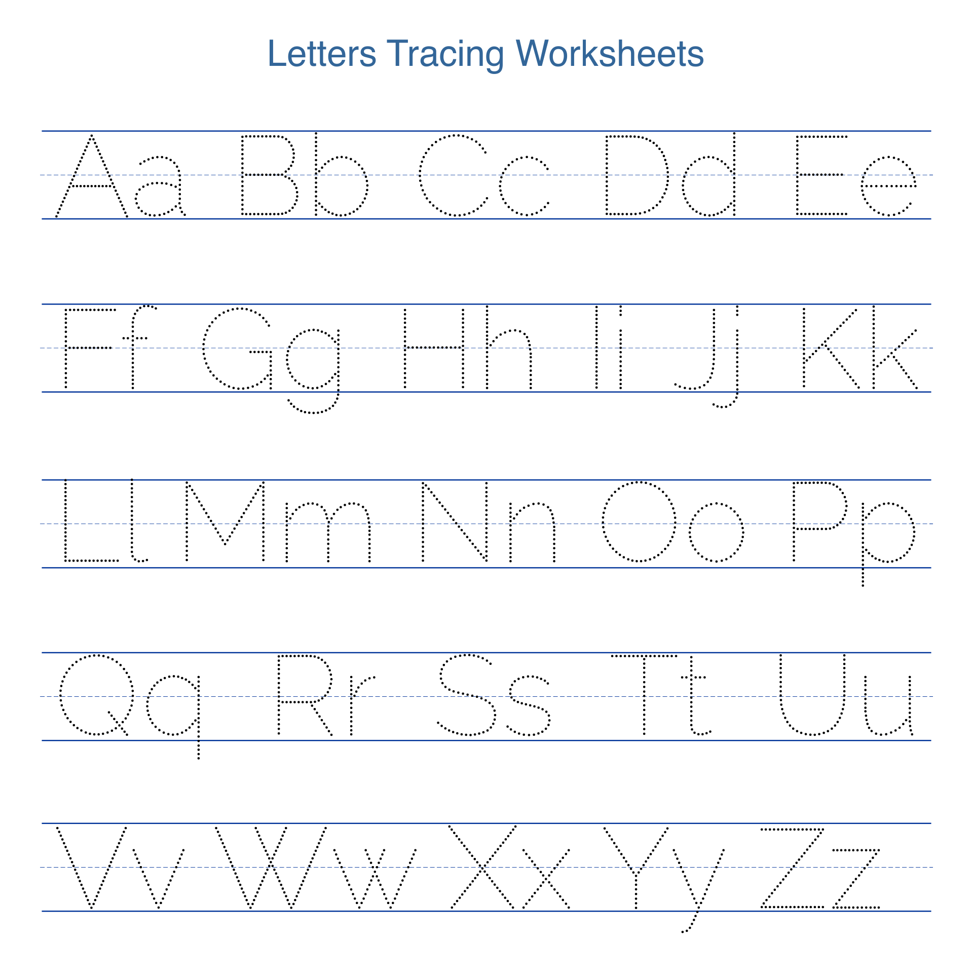 Printable Tracing Letters Worksheets