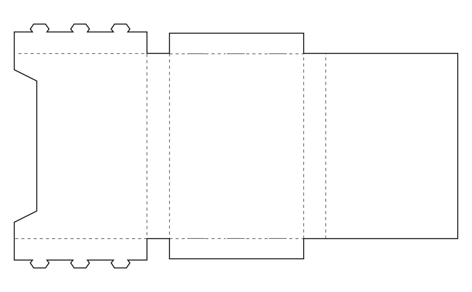 Rectangle Box Template With Measurements Printable